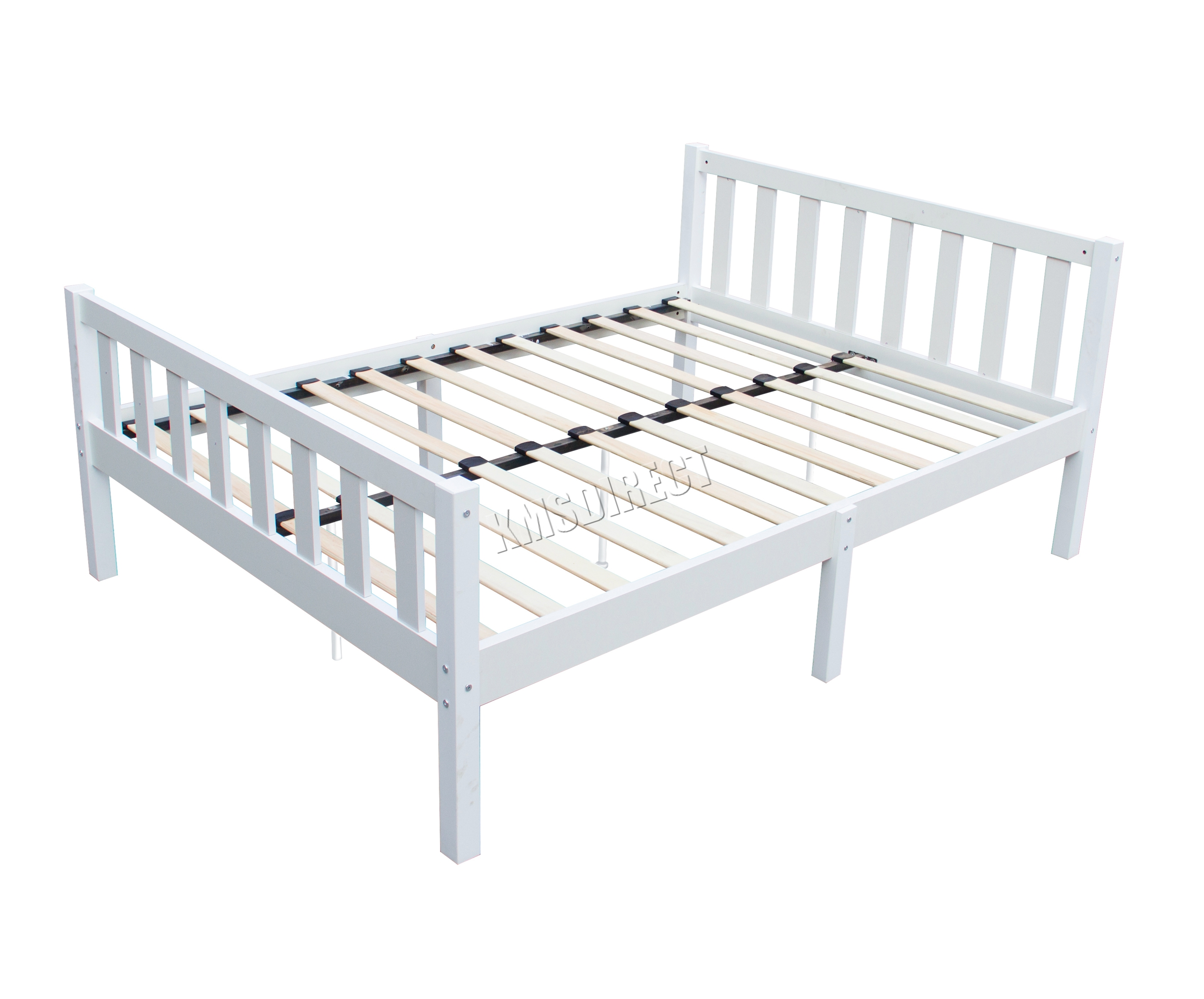 Westwood 4ft6 Double Wooden Bed Frame Pine Bedroom Home Furniture White Pwb02 Ebay