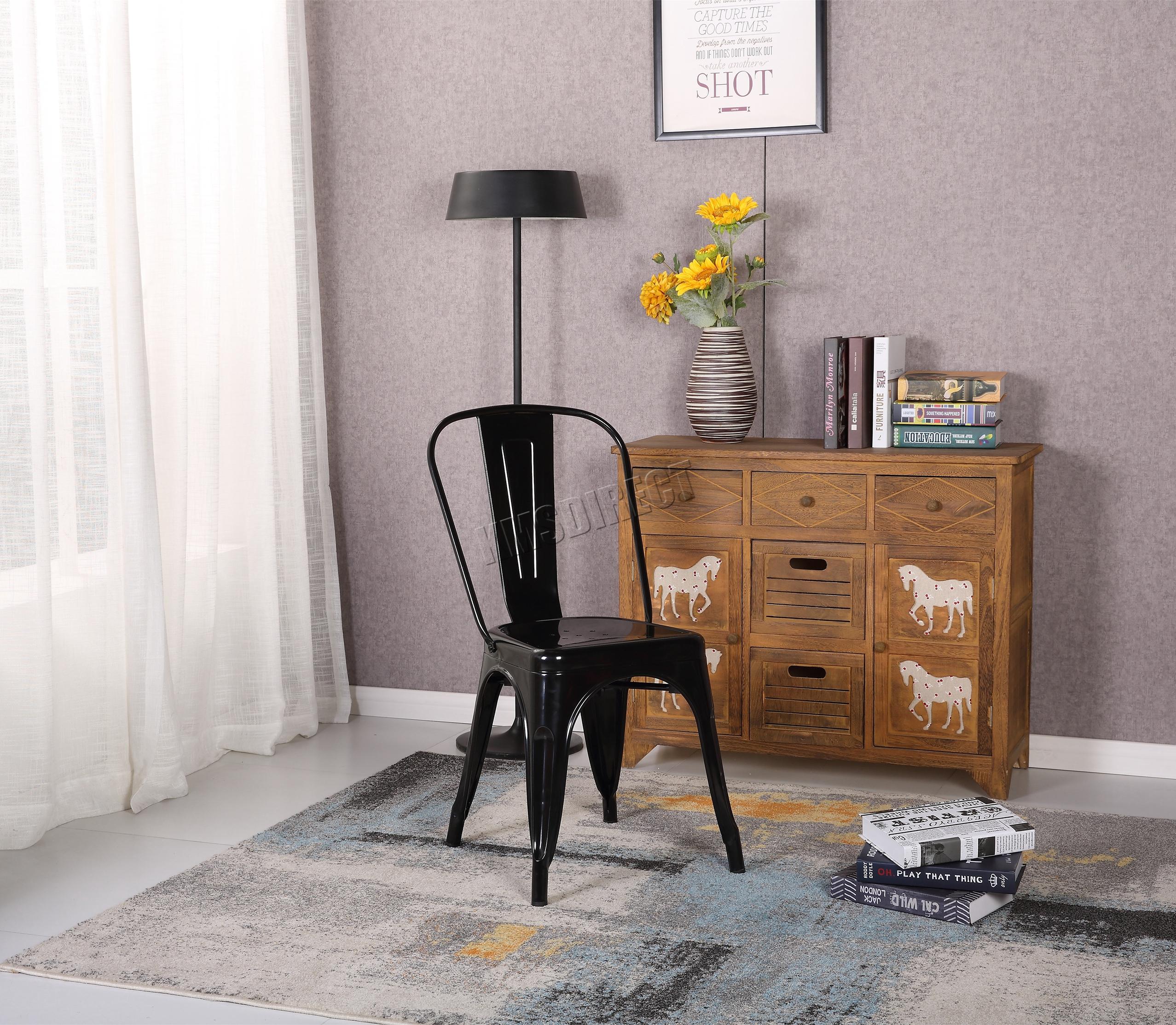 stool pair itm bar retro bistro var tolix metal chair dining chairs westwood vintage