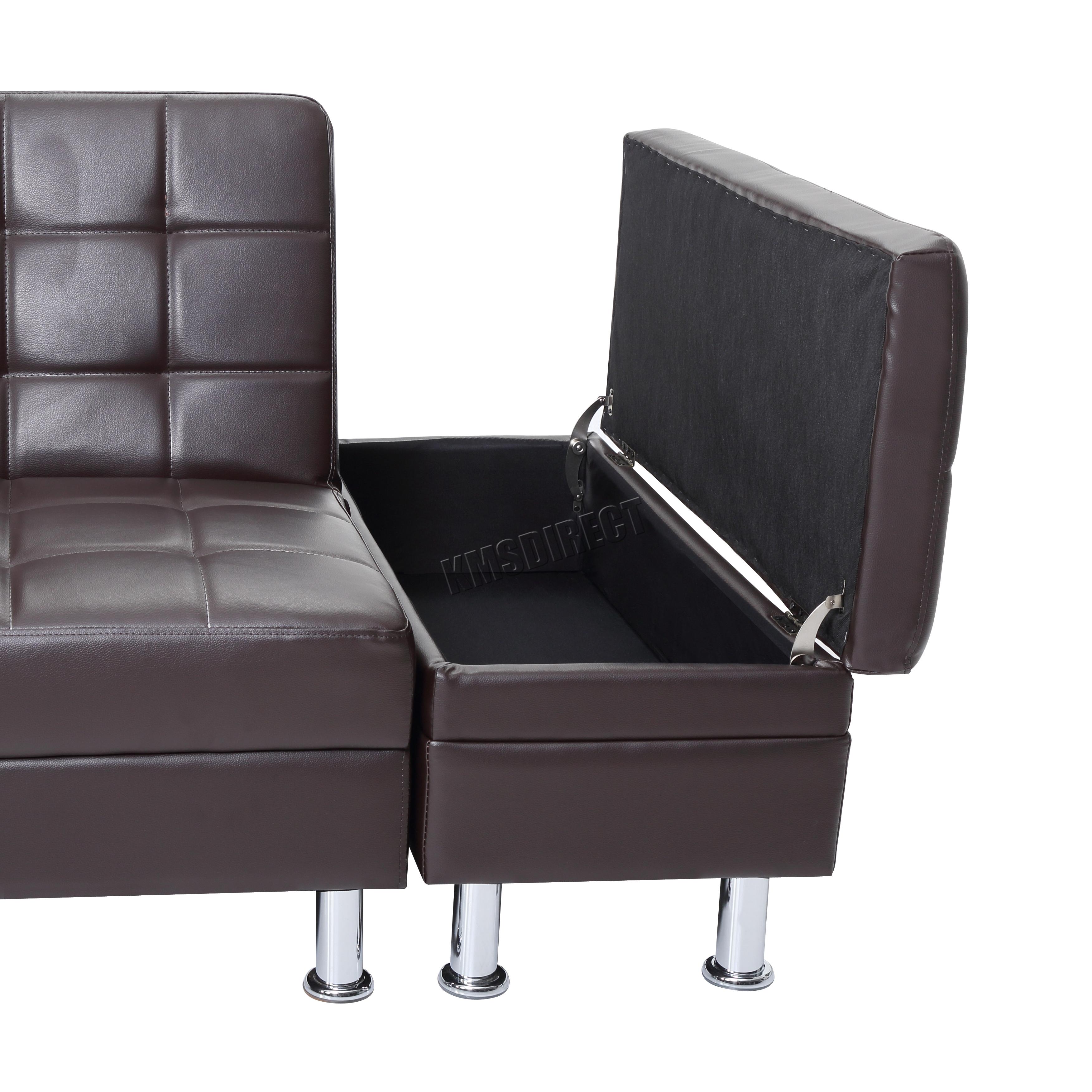 Westwood PU divano letto con contenitore a 3 POSTI ospite Sleeper ...