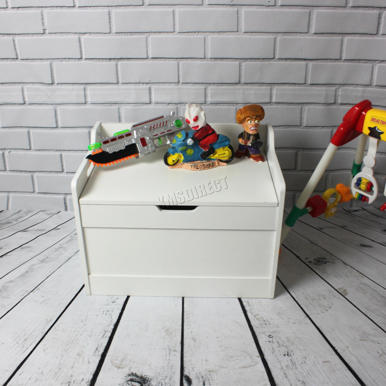 Westwood Kid Children Toy Storage Organiser Box Chest Lid Bench Mdf Tsb01 White Ebay