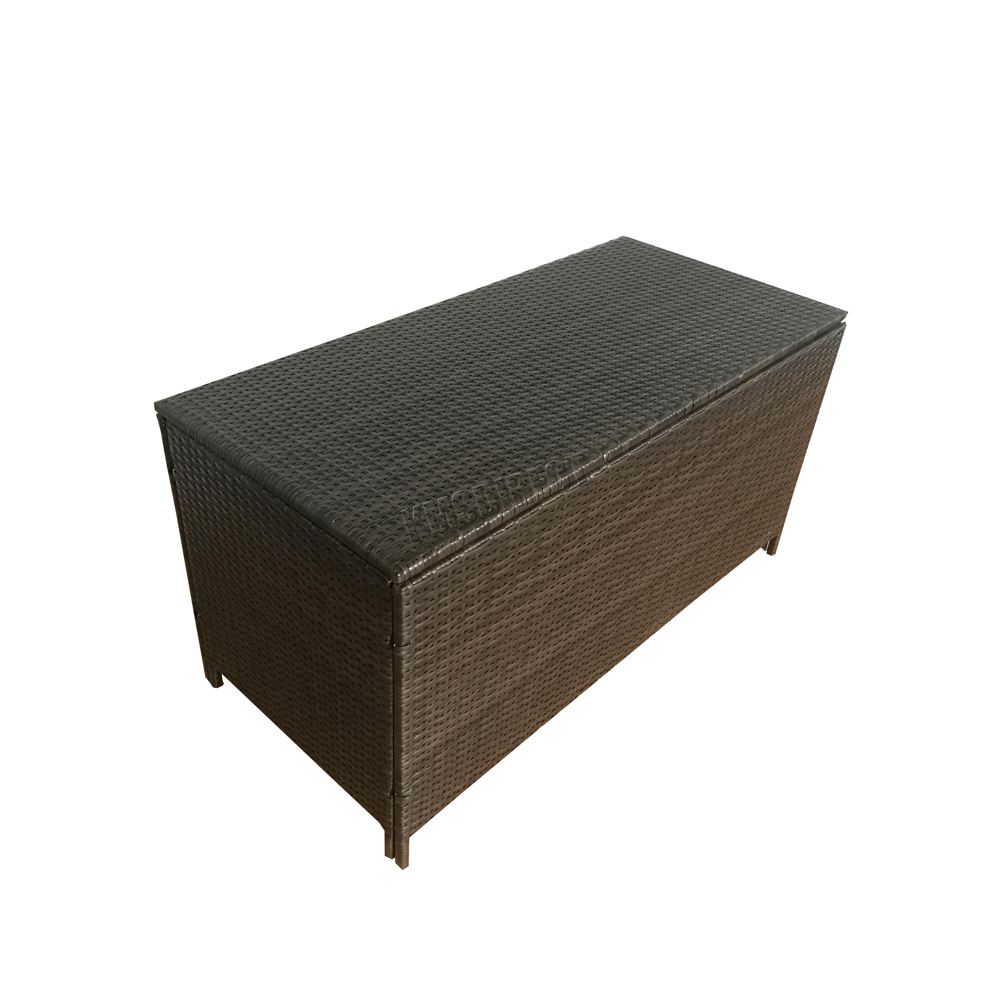 FoxHunter Muebles de jardín Ratán Caja almacenaje tejido Pecho Patio ...