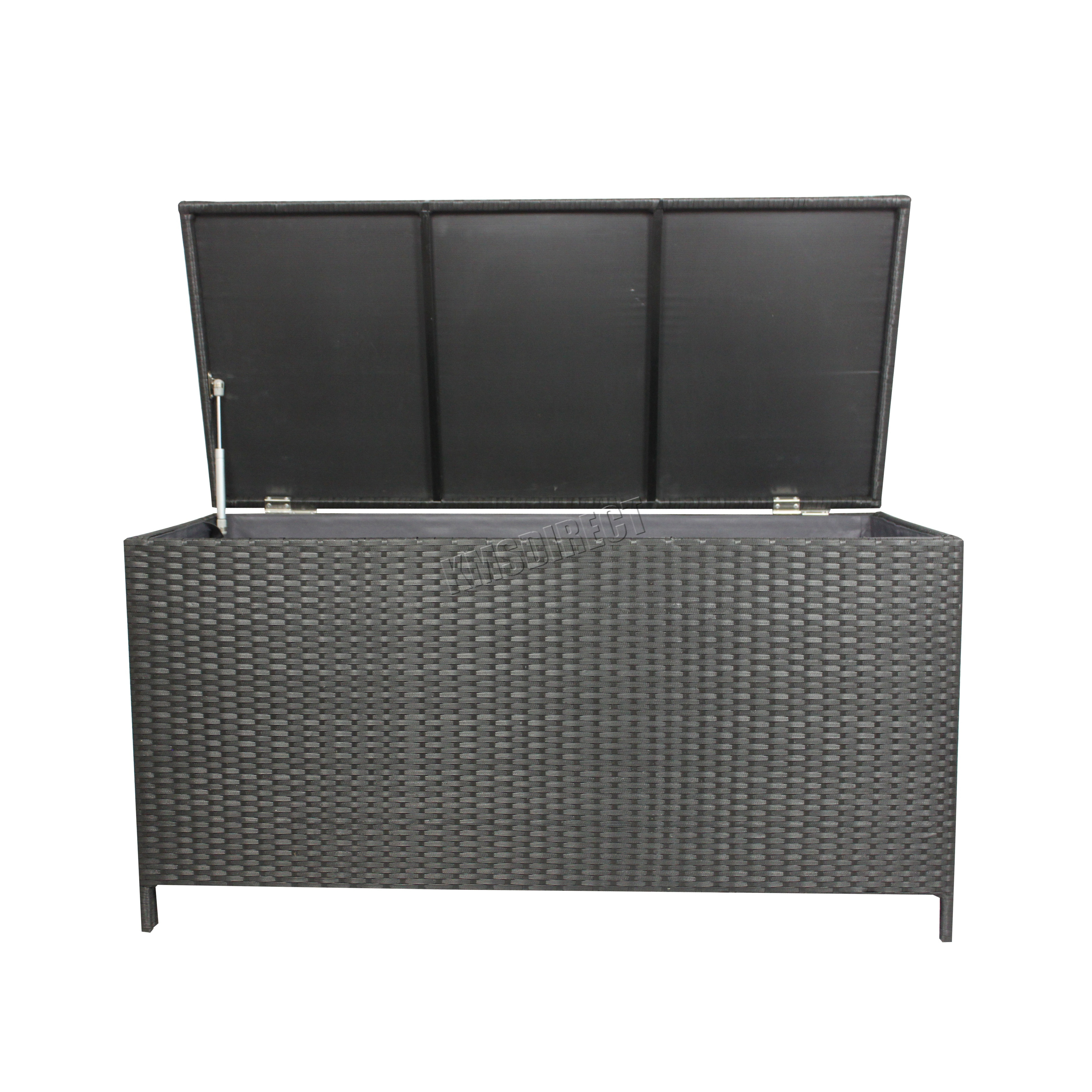 Beautiful WestWood Garden Furniture Rattan Storage Box Woven Chest Patio  HY16