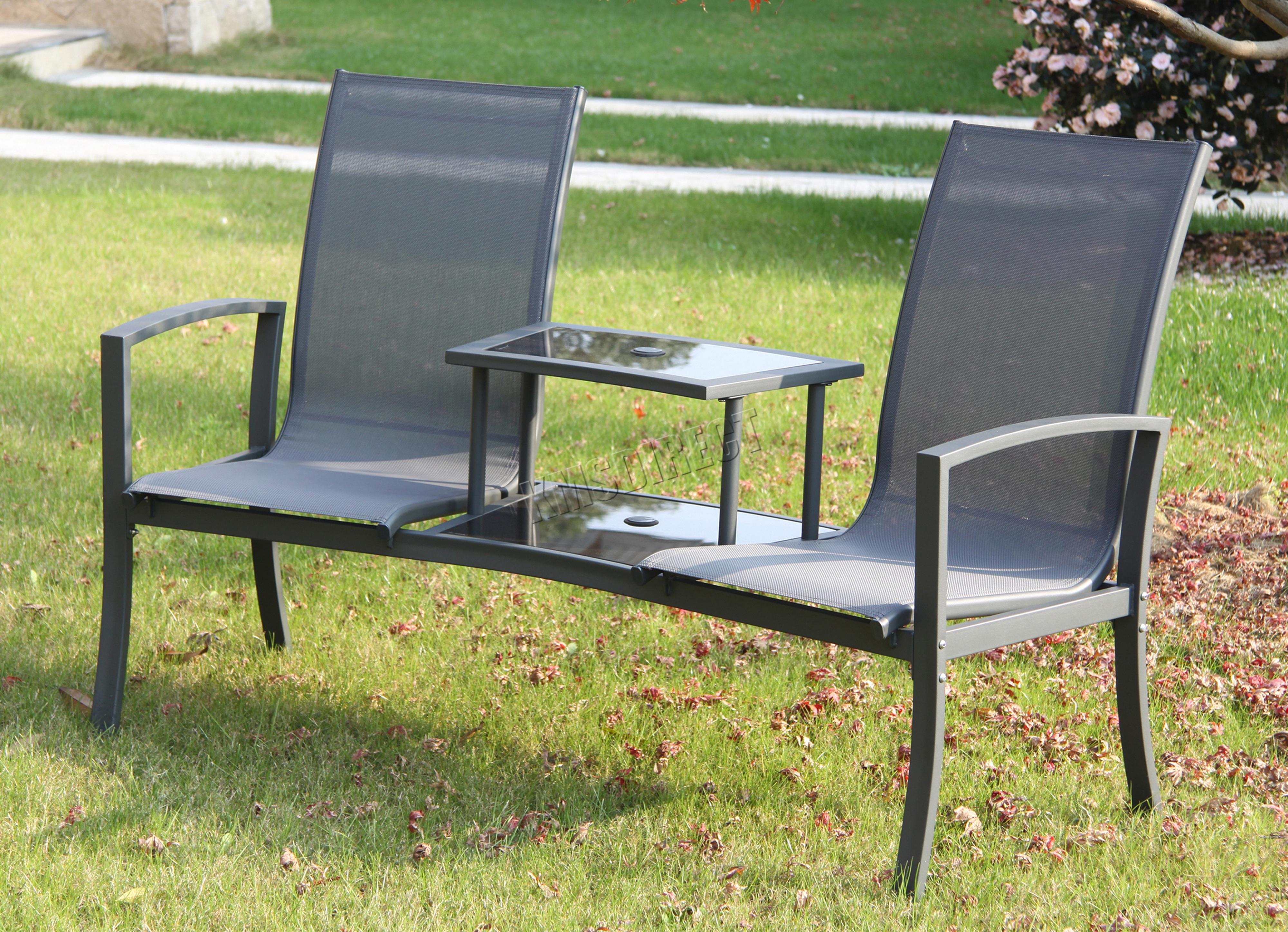 FoxHunter Outdoor Garden Love Seat Patio Twin Companion