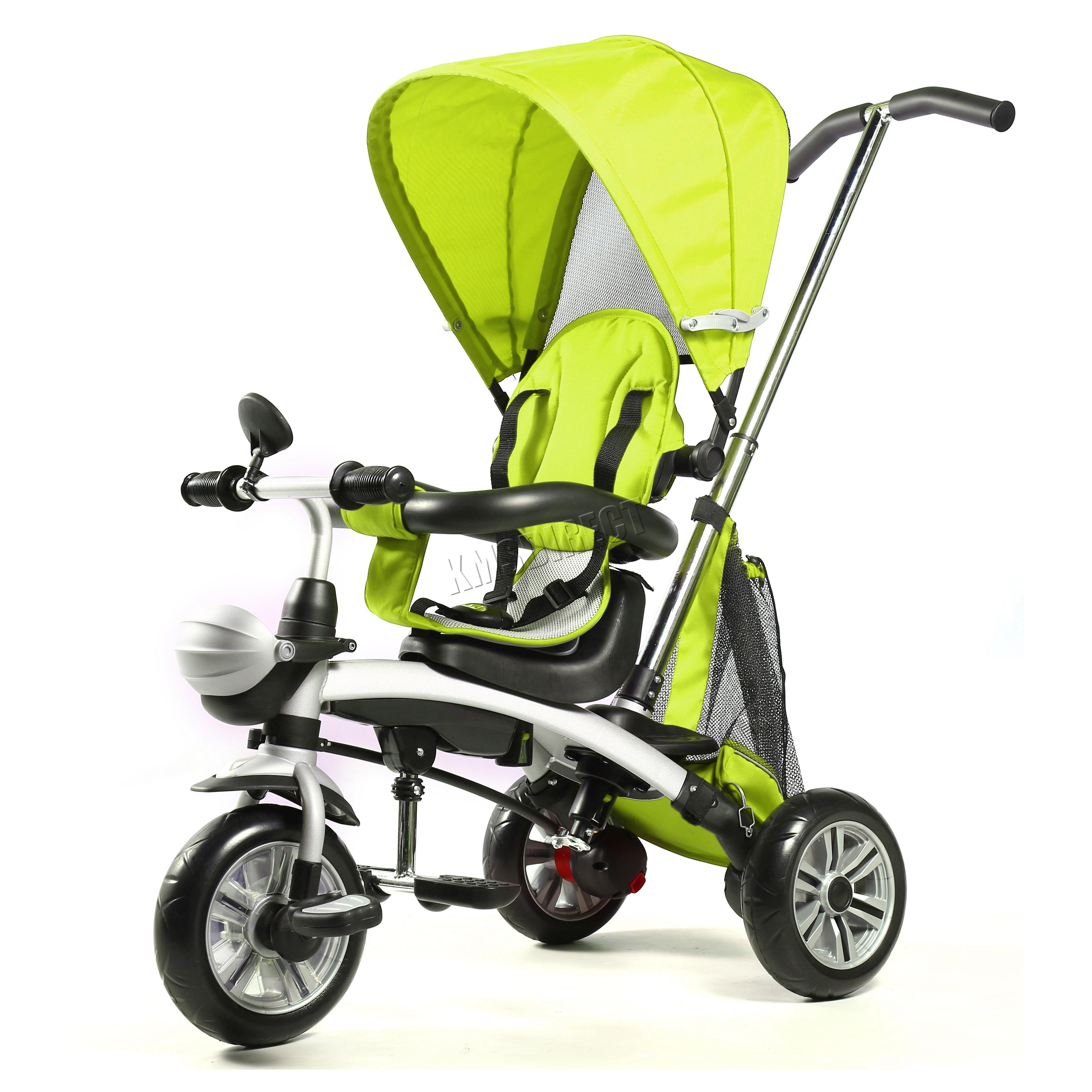 FoxHunter 4 in 1 Kids Tricycle 3 Wheels Children Ride On Trike ...