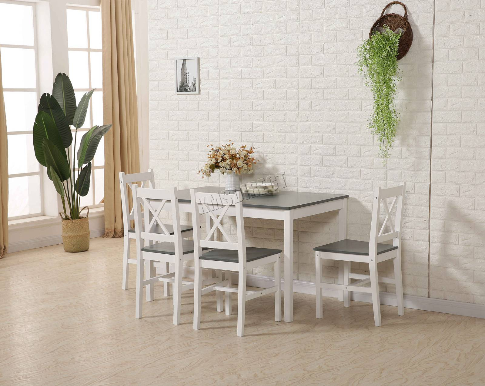 33501c6f6 CENTINELA WestWood calidad Mesa de comedor madera maciza y 4 sillas juego  de cocina casa DS03