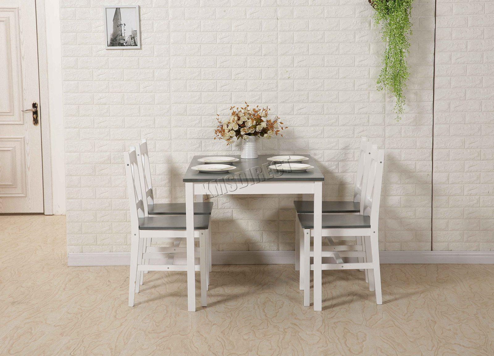 Westwood Comedor Mesa Ds03 Calidad 4 Sillas Cocina Y Detalles Juego Hogar Macizo Madera De K35lJuTcF1