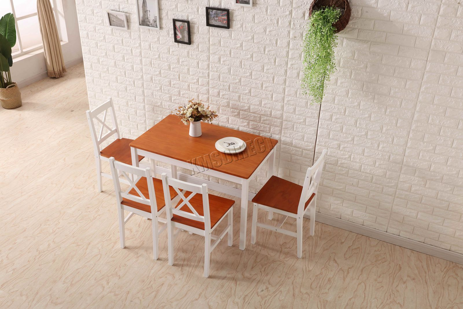 Details About Westwood Quality Solid Wooden Dining Table And 4 Chairs Set Kitchen Home Ds03