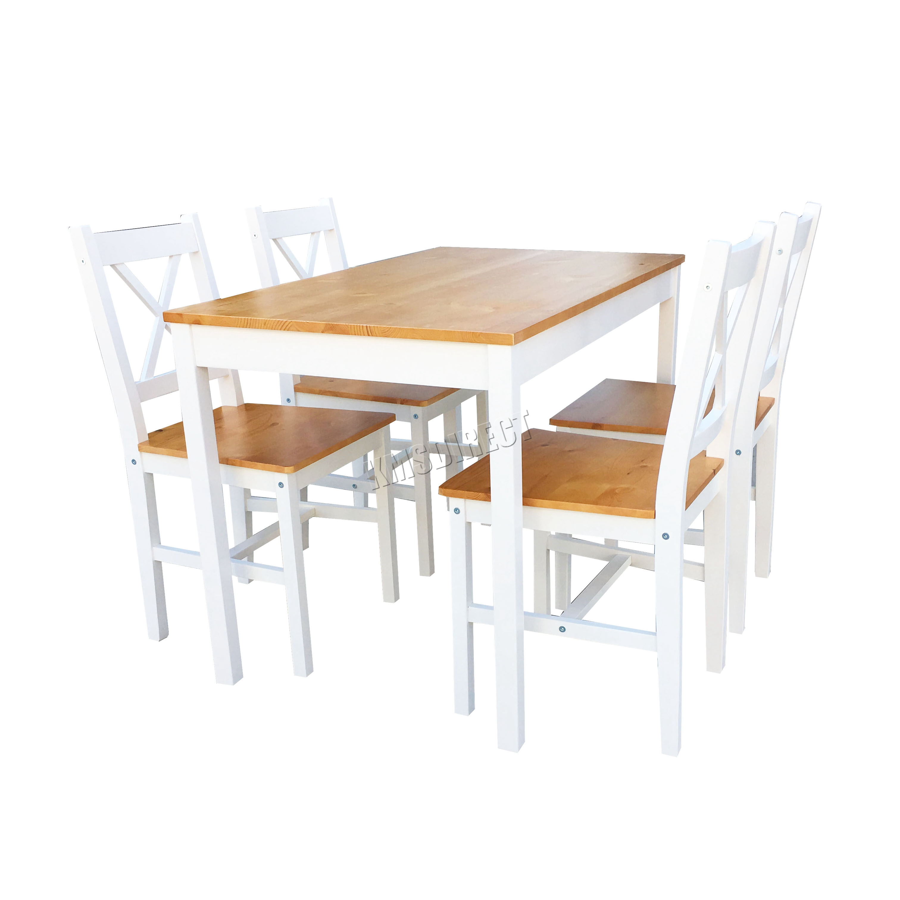 Westwood quality solid wooden dining table and 4 chairs for Dining table support