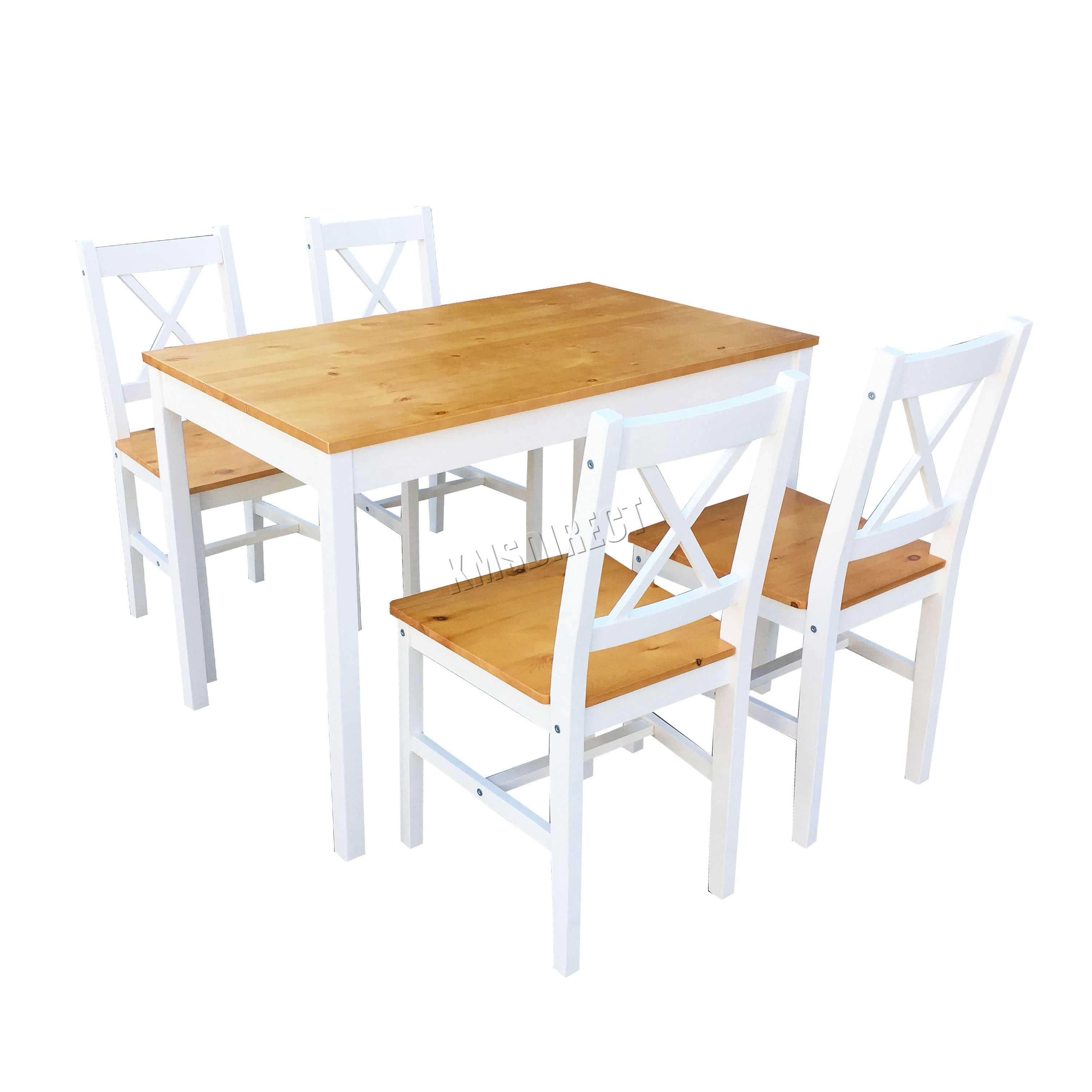 Kitchen Wooden Dining Table Chairs Collection With: WestWood Quality Solid Wooden Dining Table And 4 Chairs