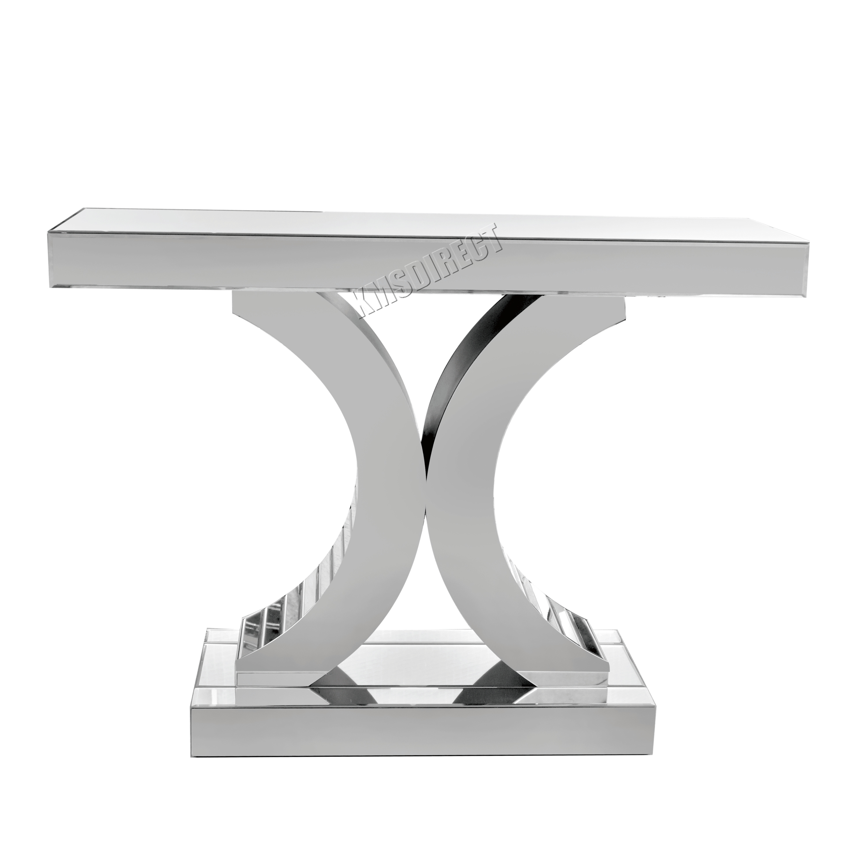 FoxHunter Mirrored Furniture Glass Table Console Desk Bedroom