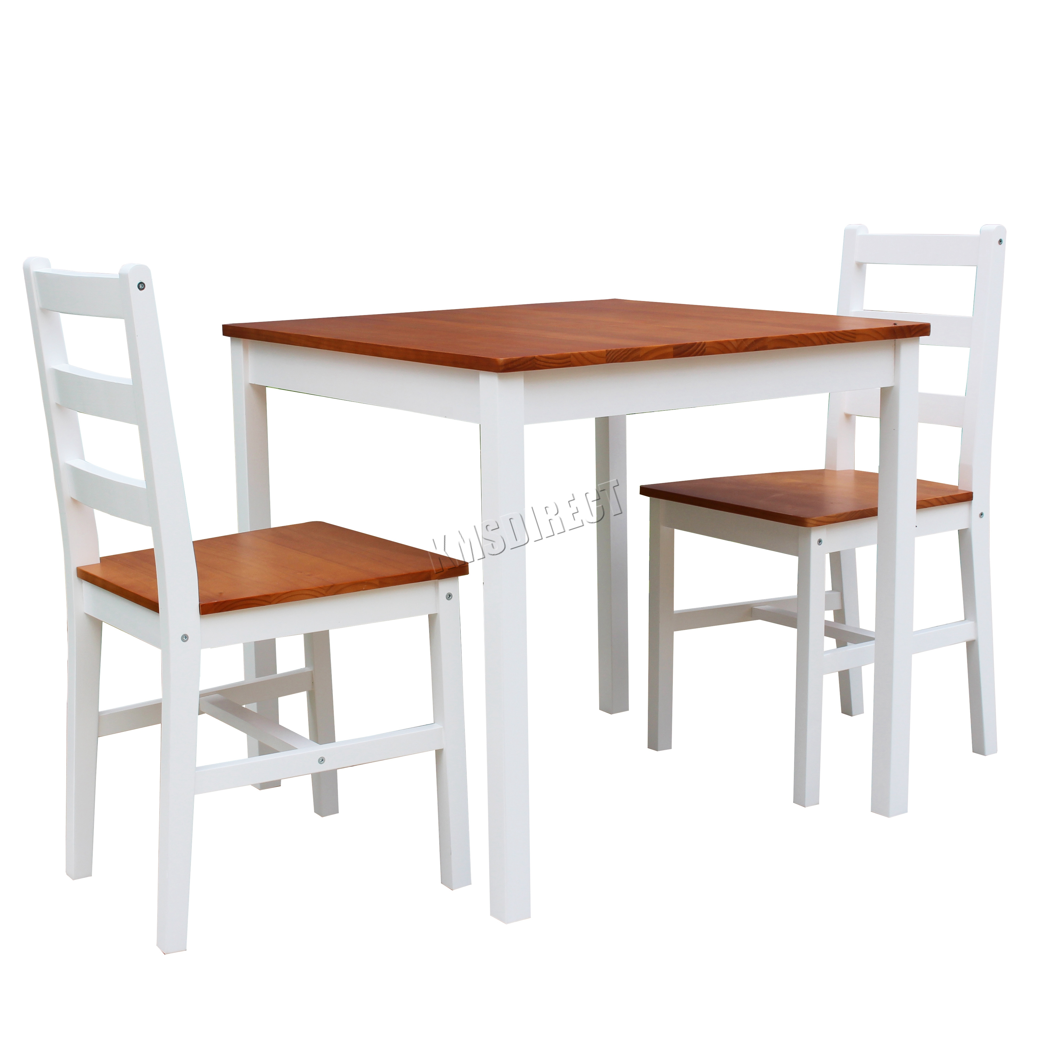 kitchen wood furniture westwood solid pine wood dining table with 2 chairs set 13880