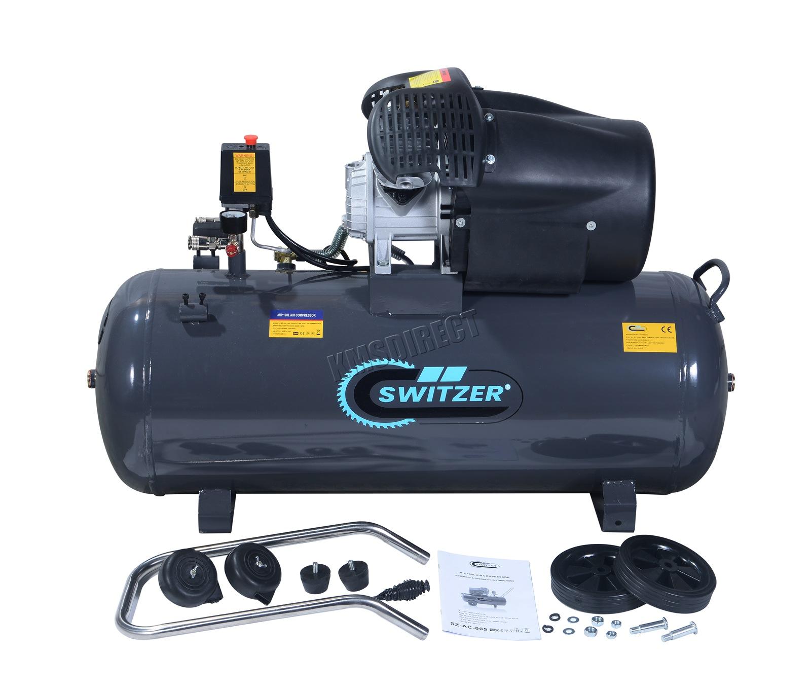 switzer luftkompressor 100l liter l 3hp 8 bar 230v 14cfm. Black Bedroom Furniture Sets. Home Design Ideas