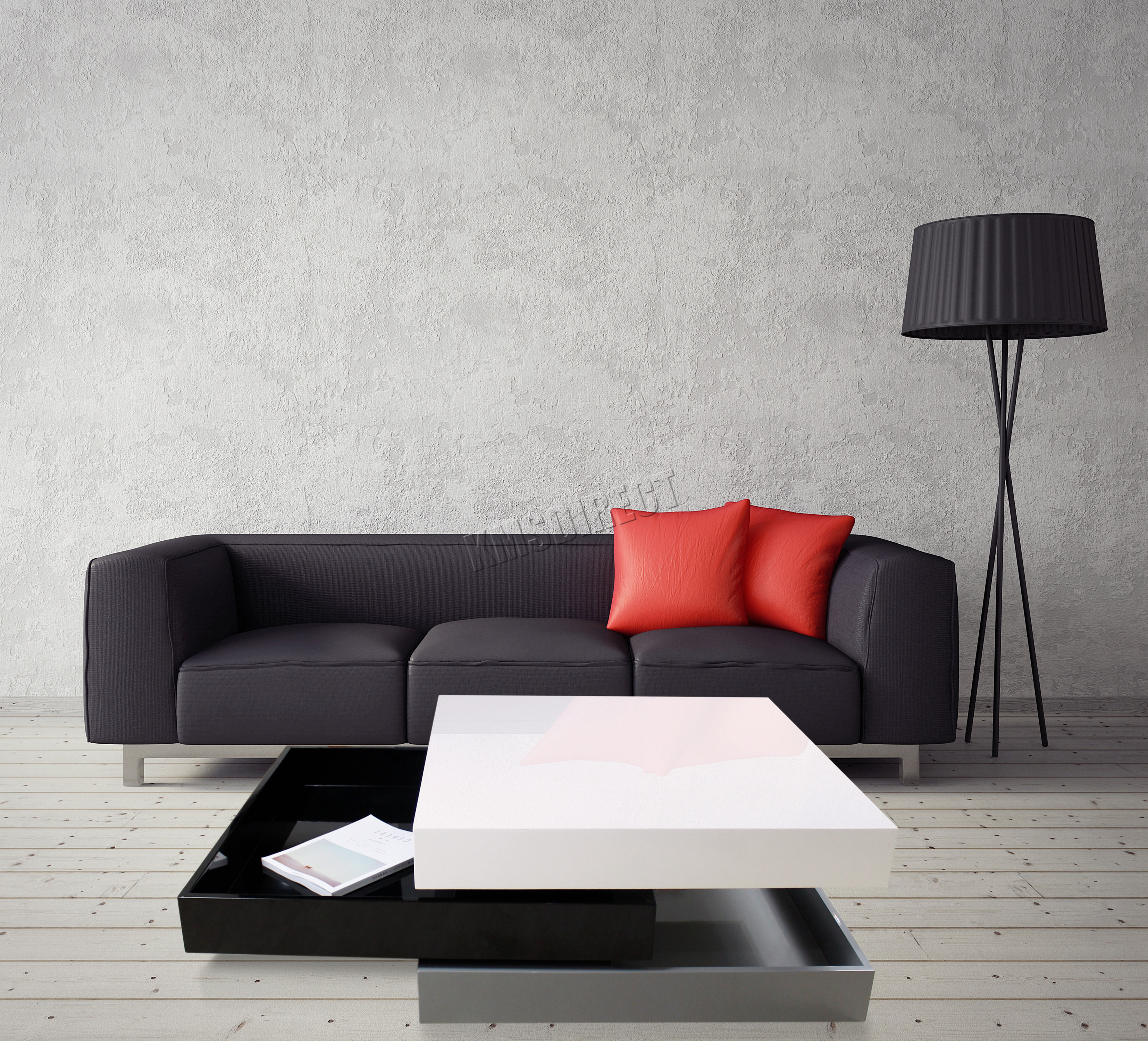 Foxhunter rotating coffee table 3 layers high gloss mdf ct03 black sentinel foxhunter rotating coffee table 3 layers high gloss mdf ct03 black grey white geotapseo Image collections