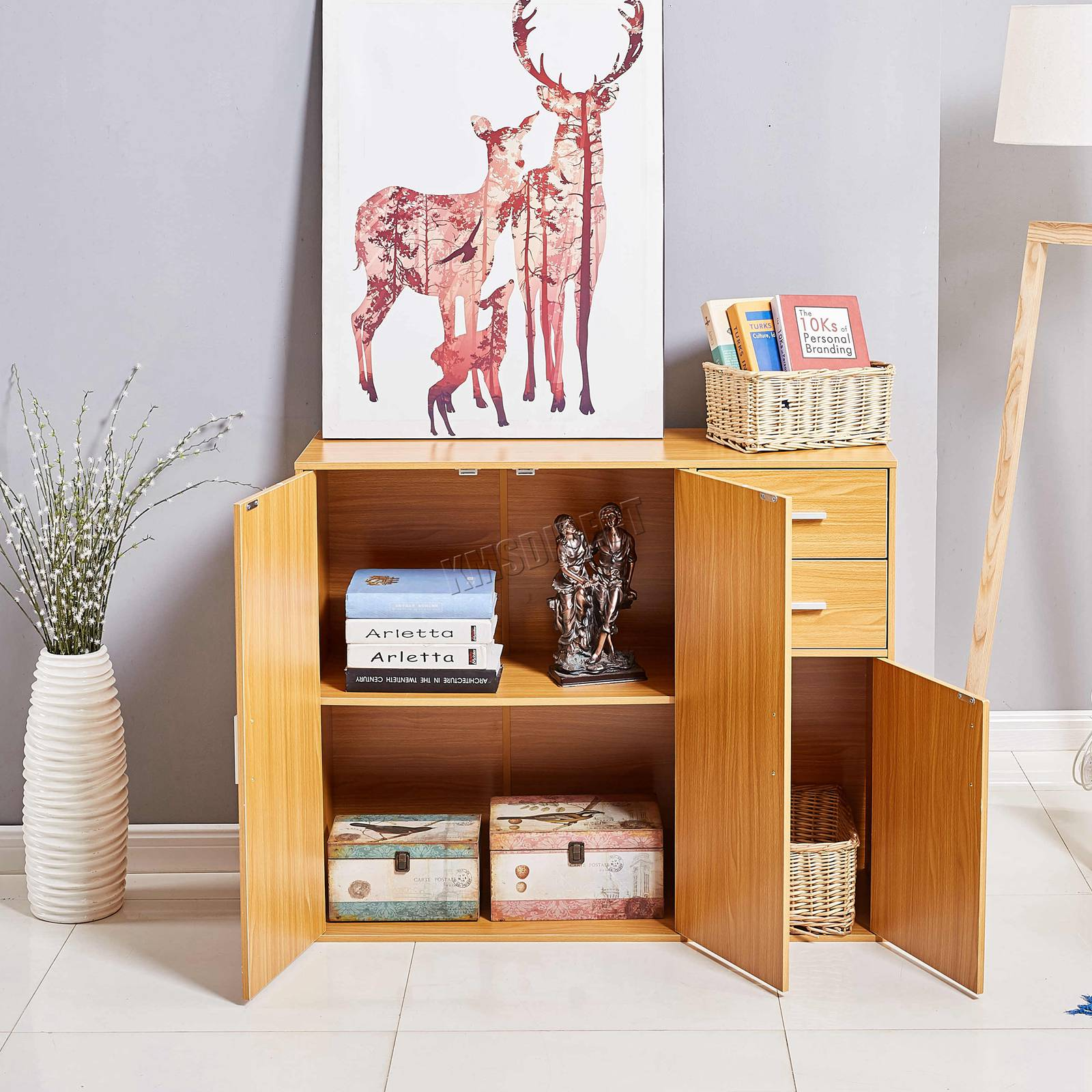 WestWood-Sideboard-Cabinet-Storage-tableware-Kitchen-Cupboard-Unit-PB-SSP01-NEW thumbnail 16