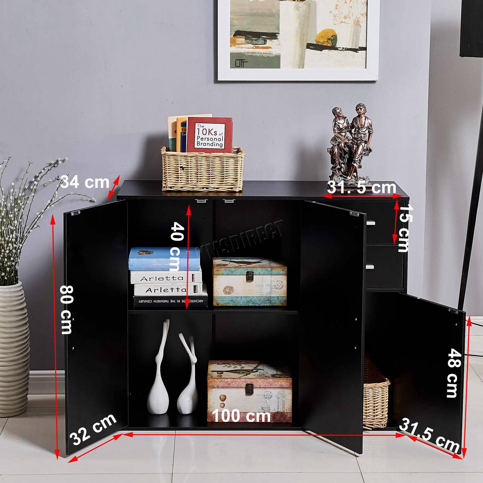 WestWood-Sideboard-Cabinet-Storage-tableware-Kitchen-Cupboard-Unit-PB-SSP01-NEW thumbnail 32