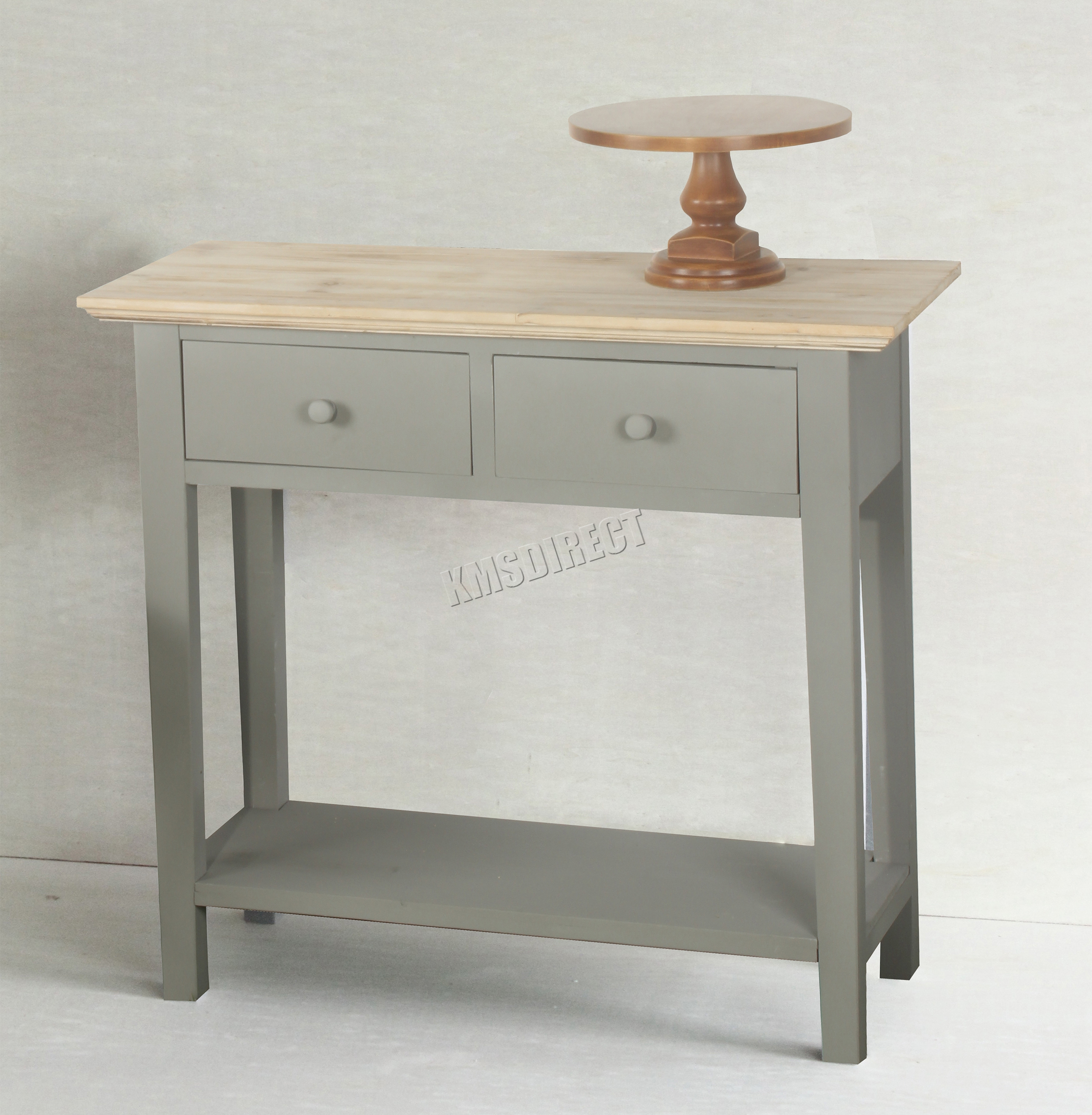 Foxhunter console table 2 drawers wood hallway side for Table cuisine pro