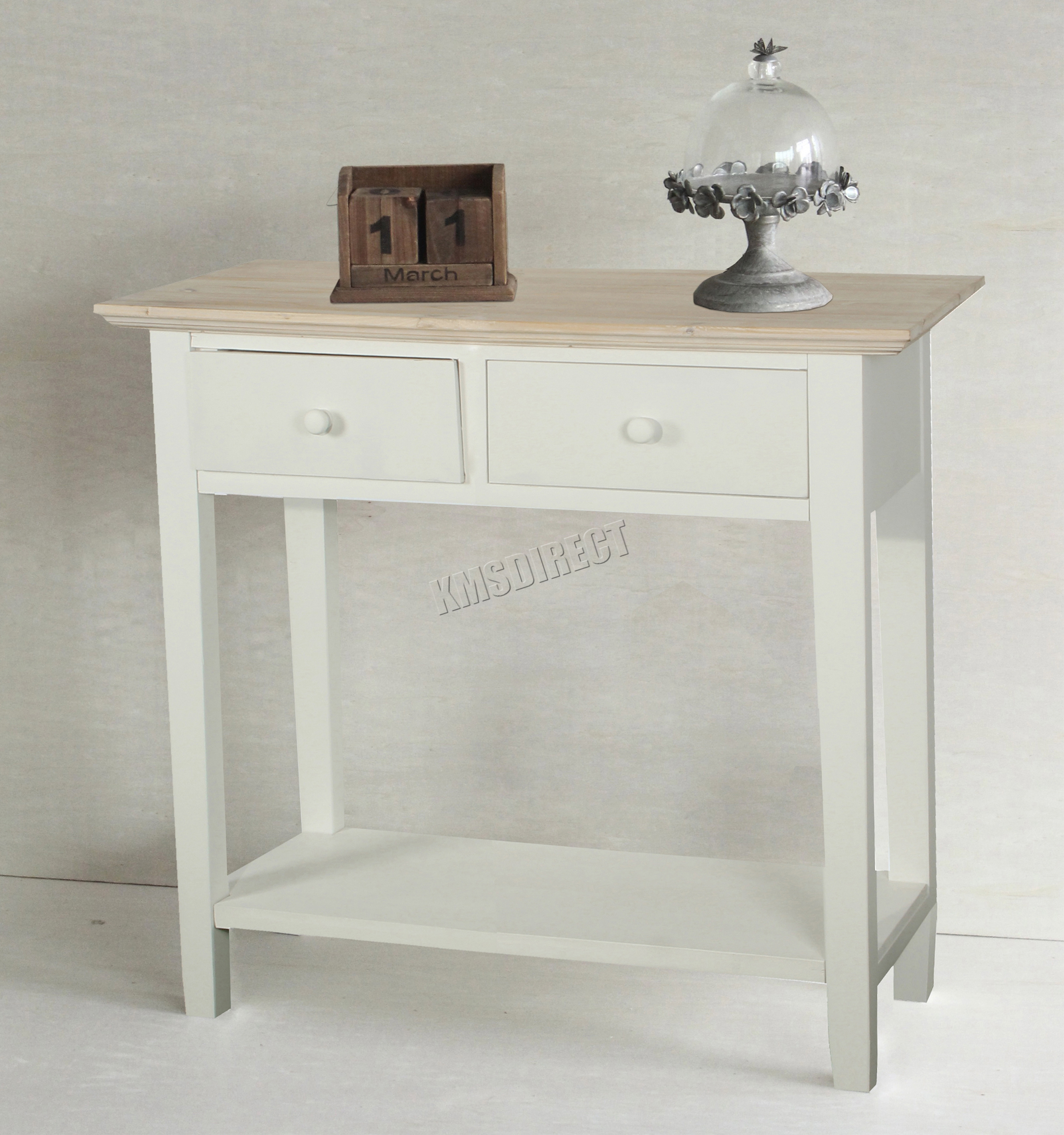 foxhunter console table 2 drawers wood hallway side storage hall kitchen ctw01 ebay. Black Bedroom Furniture Sets. Home Design Ideas