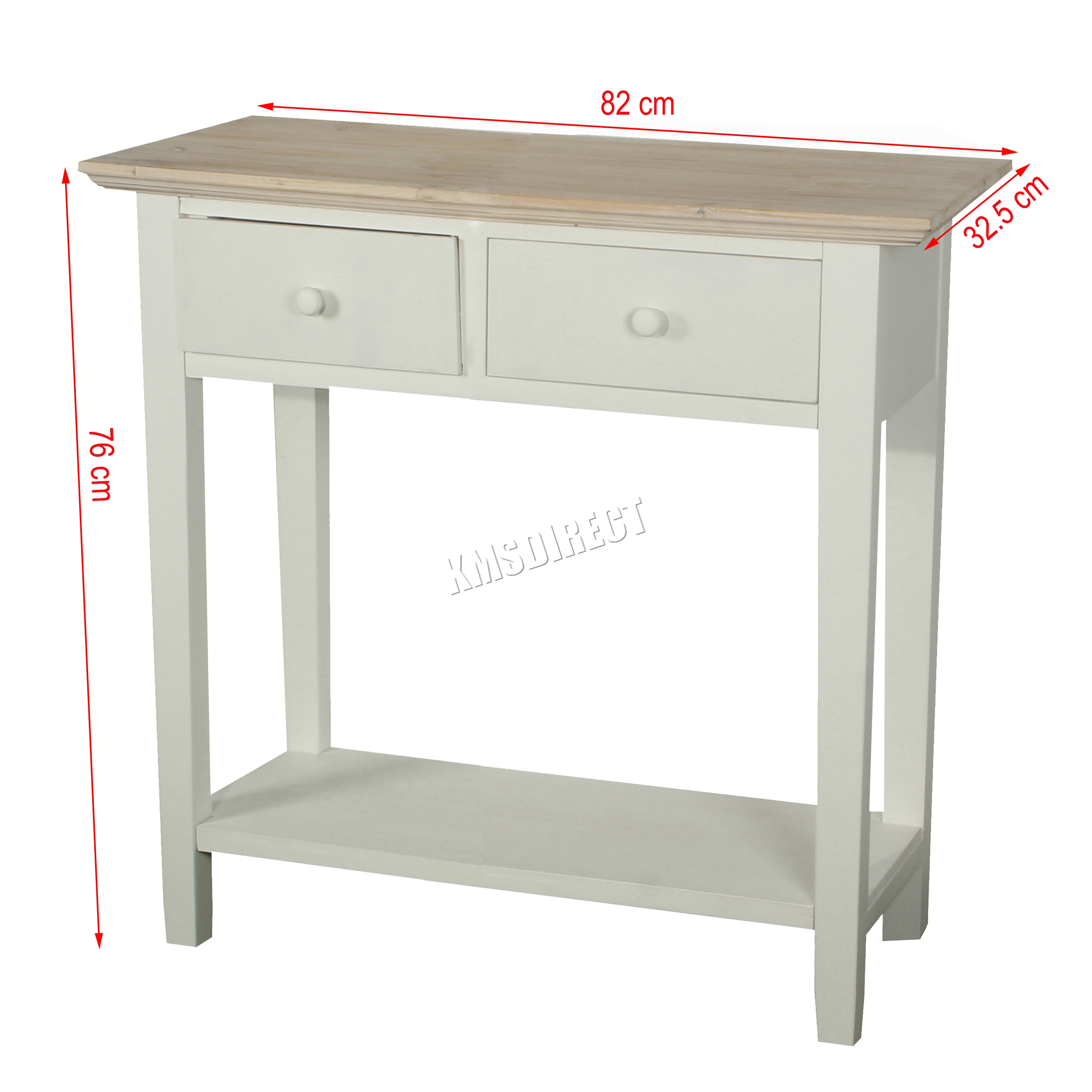 Kitchen Foyer Table : Foxhunter console table drawers wood hallway side