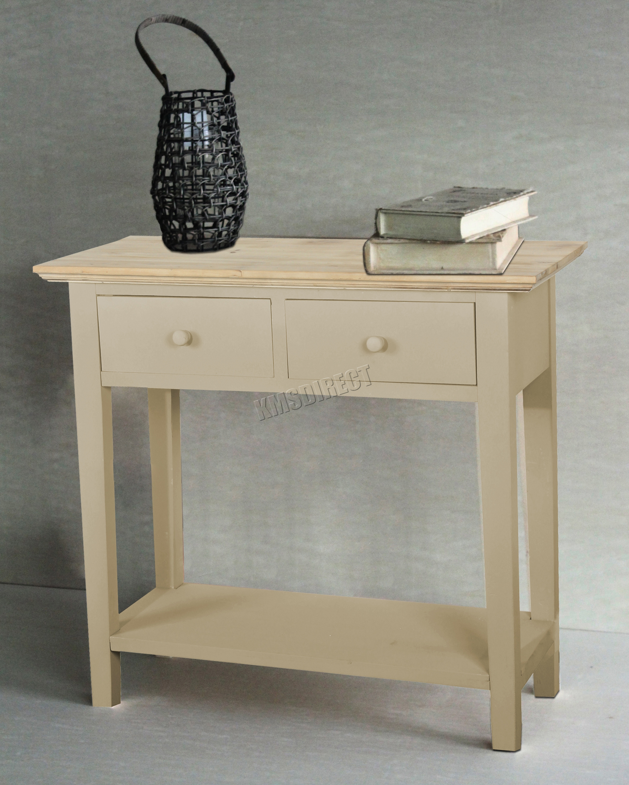 Sentinel foxhunter console table 2 drawers wood hallway side storage hall kitchen ctw01