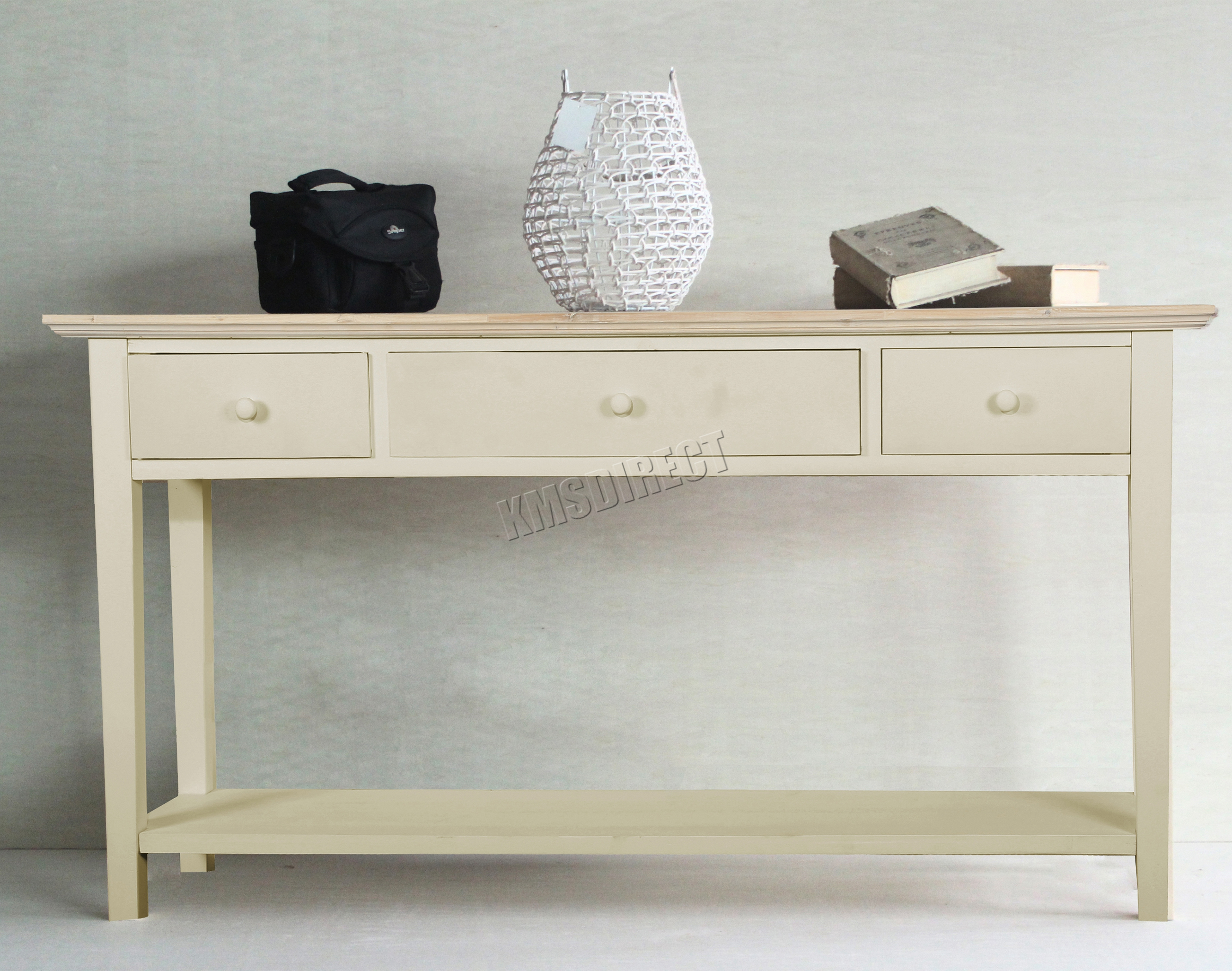 Foxhunter console table drawers wood hallway side