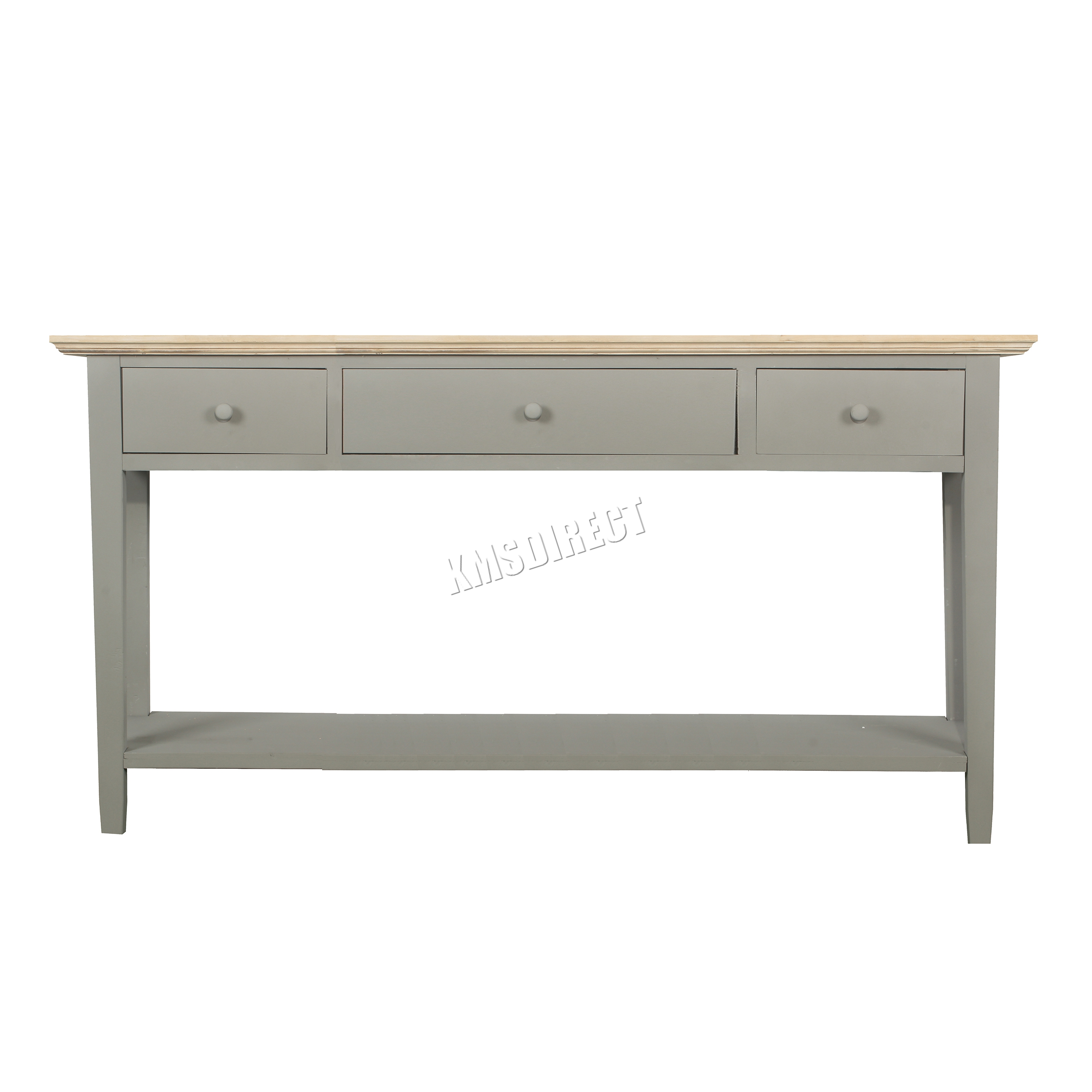 Foxhunter console table 3 drawers wood hallway side for Table th 00 02