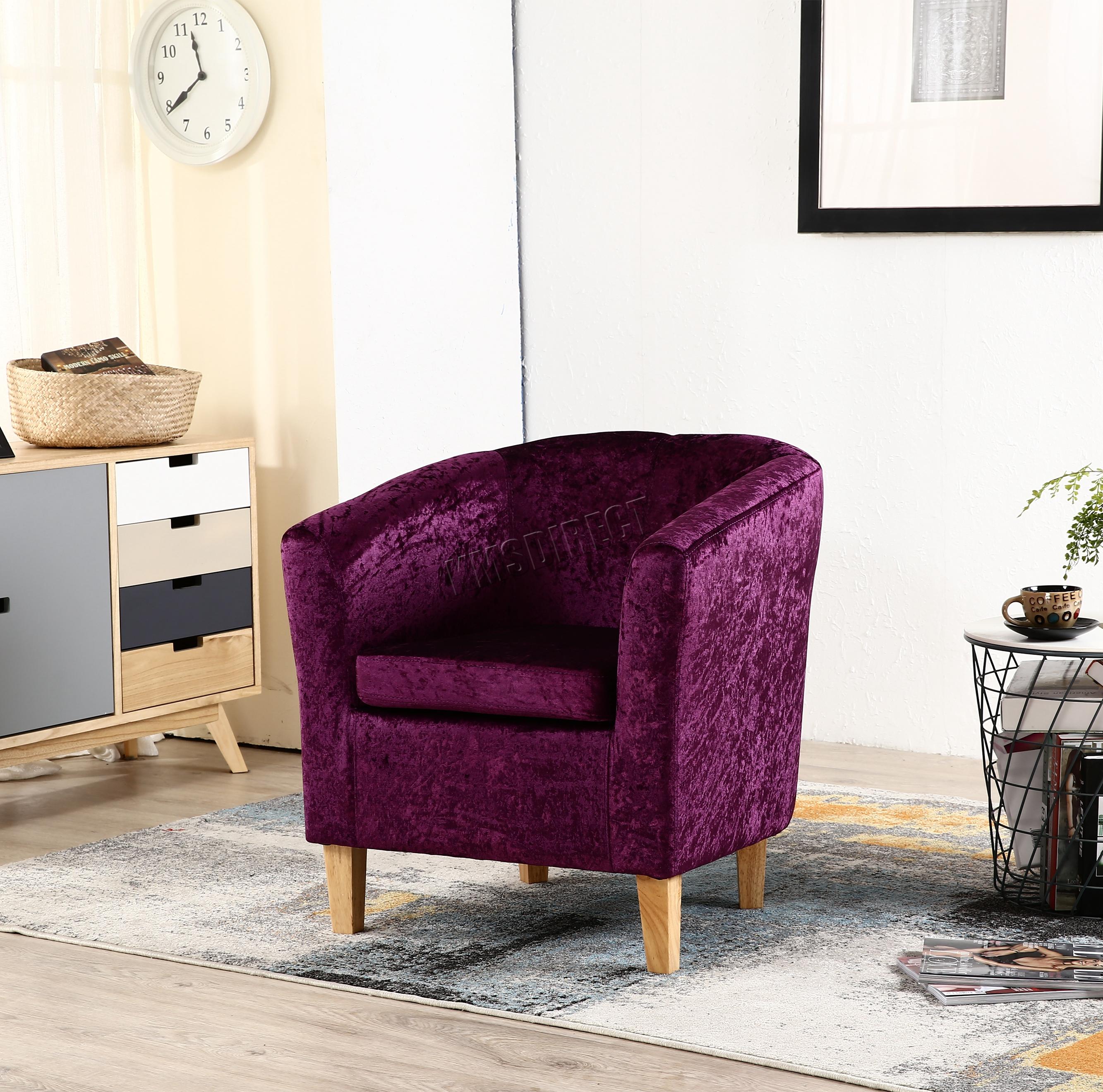 Westwood Crush Velvet Fabric Tub Chair Armchair Lounge
