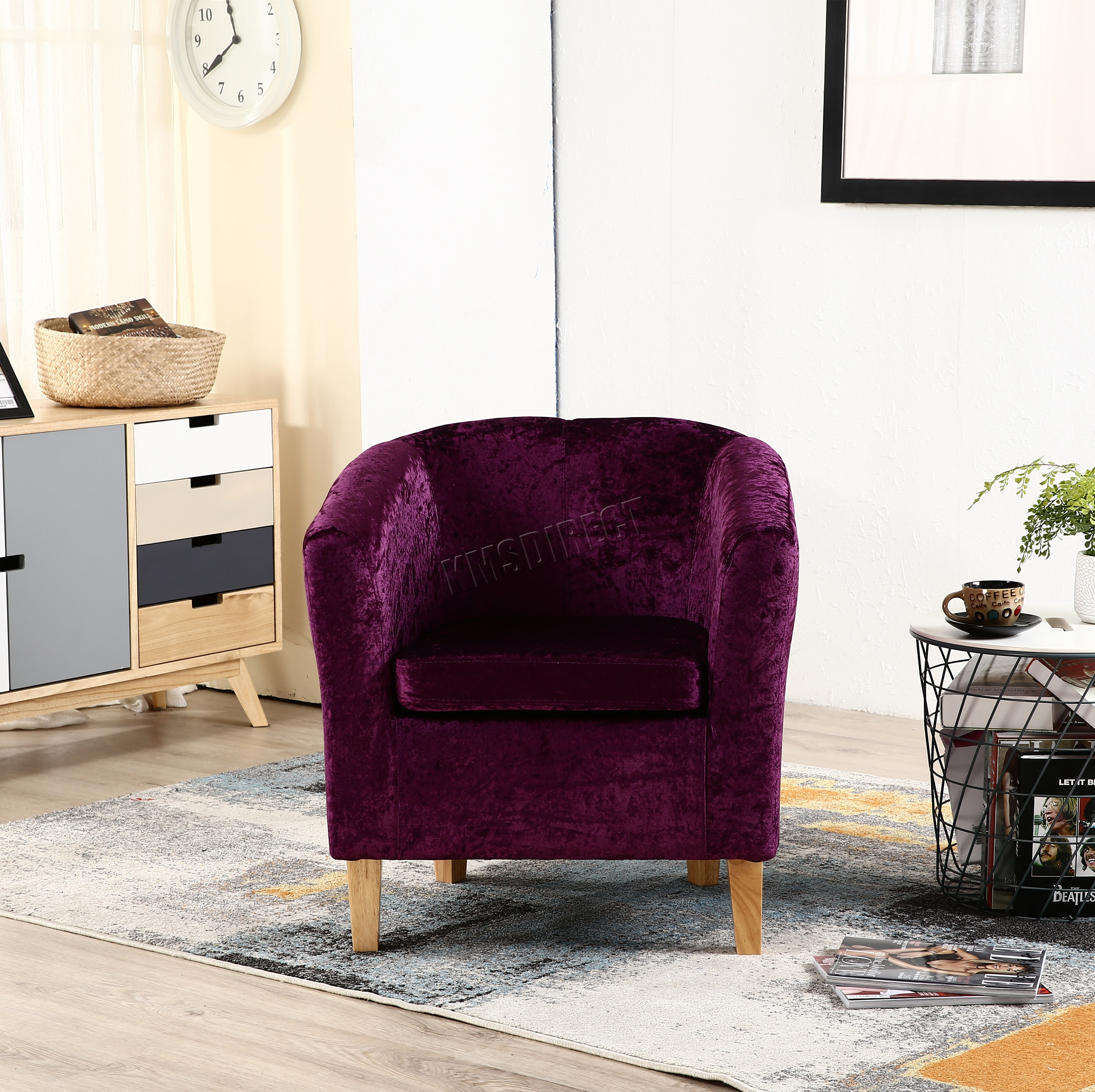 Westwood Crush Velvet Fabric Tub Chair Armchair Lounge