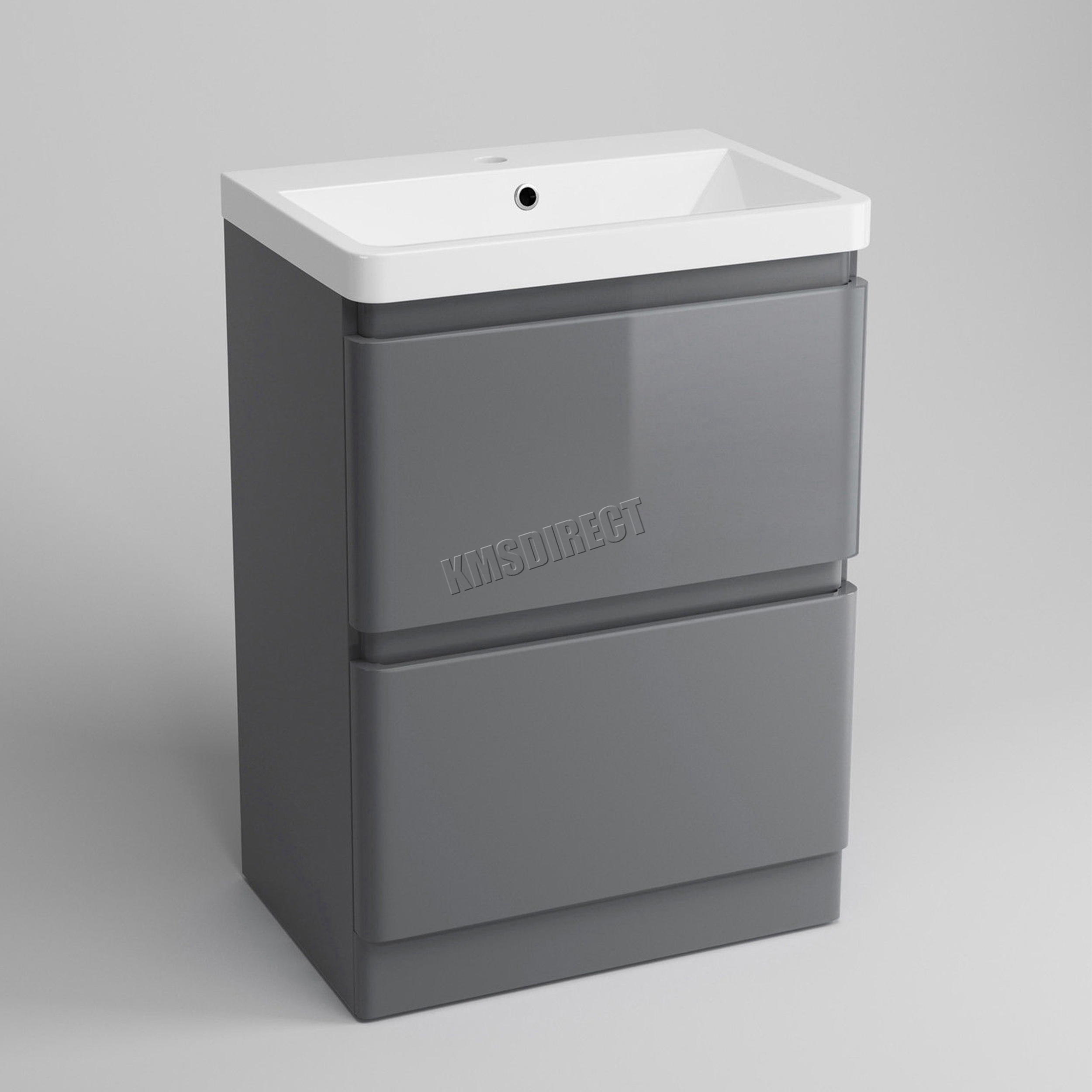 Foxhunter Vanity Unit Mdf High Gloss 2 Drawers Basin Bathroom Cabinet Storage Ebay