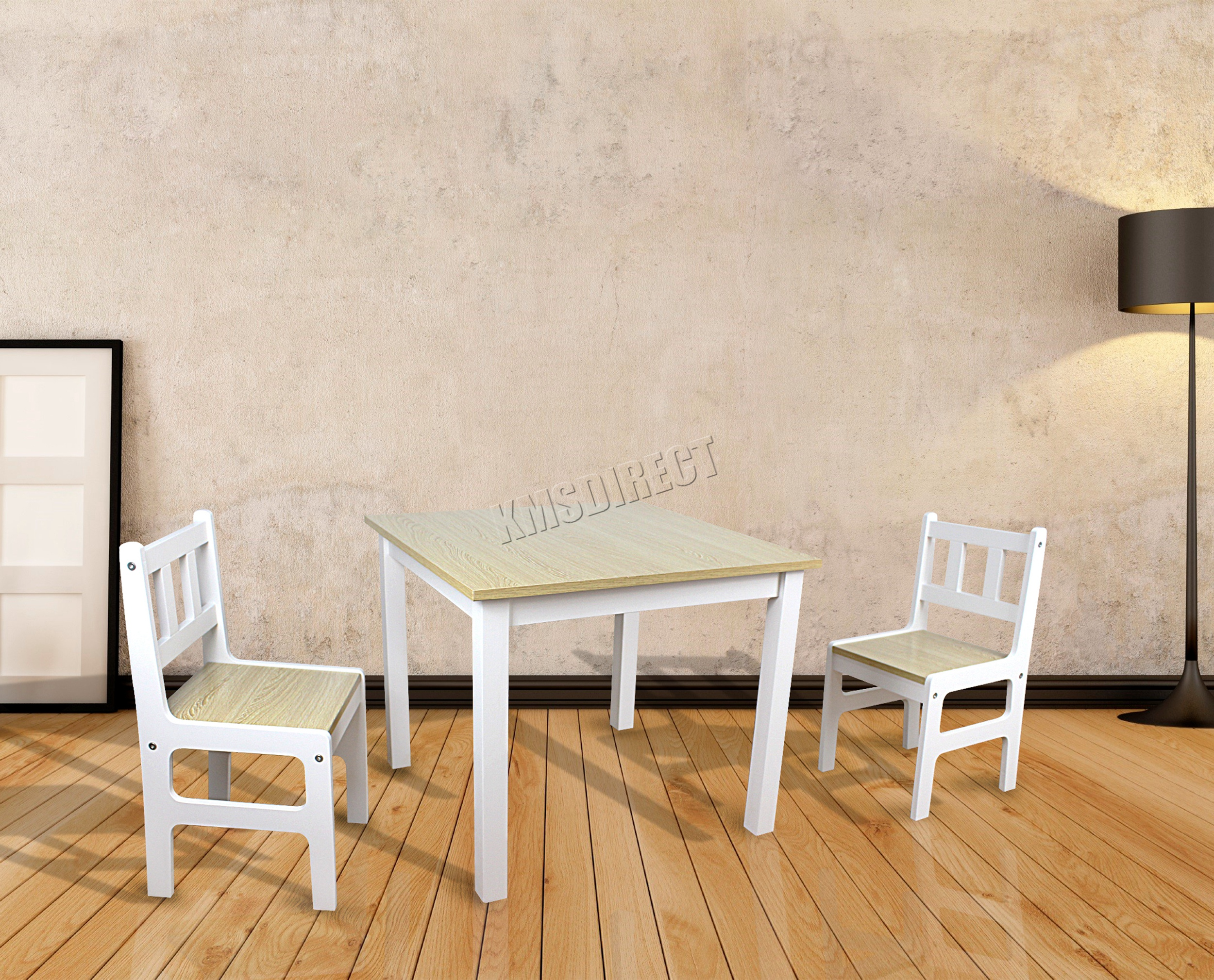 foxhunter kinder tisch mit 2 st hle set toy untersuchung spielzimmer holz kts01 ebay. Black Bedroom Furniture Sets. Home Design Ideas