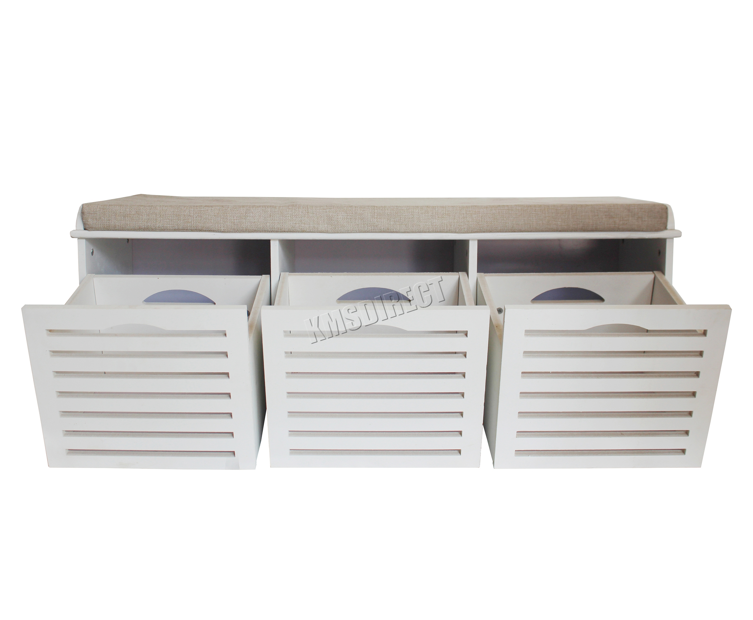 Foxhunter Shoe Storage Bench With Drawers Padded Seat