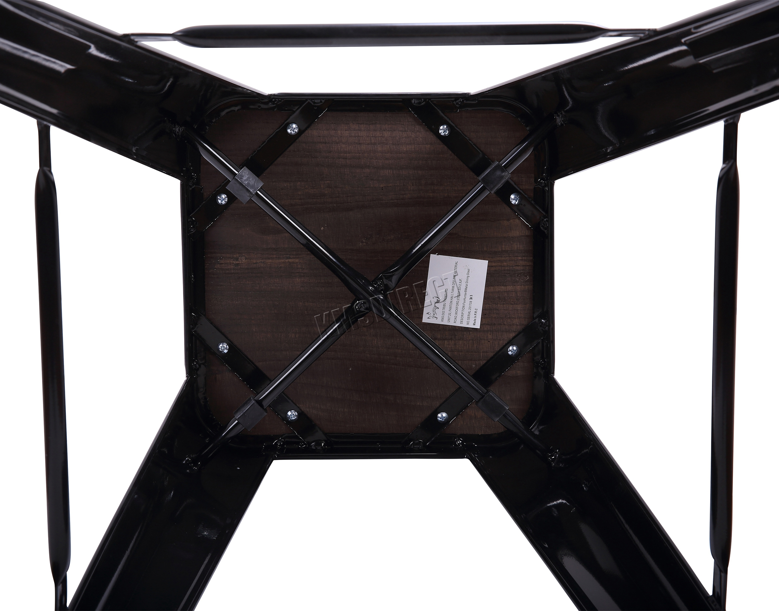 Foxhunter metal tolix vintage bar dining stool chair with wood