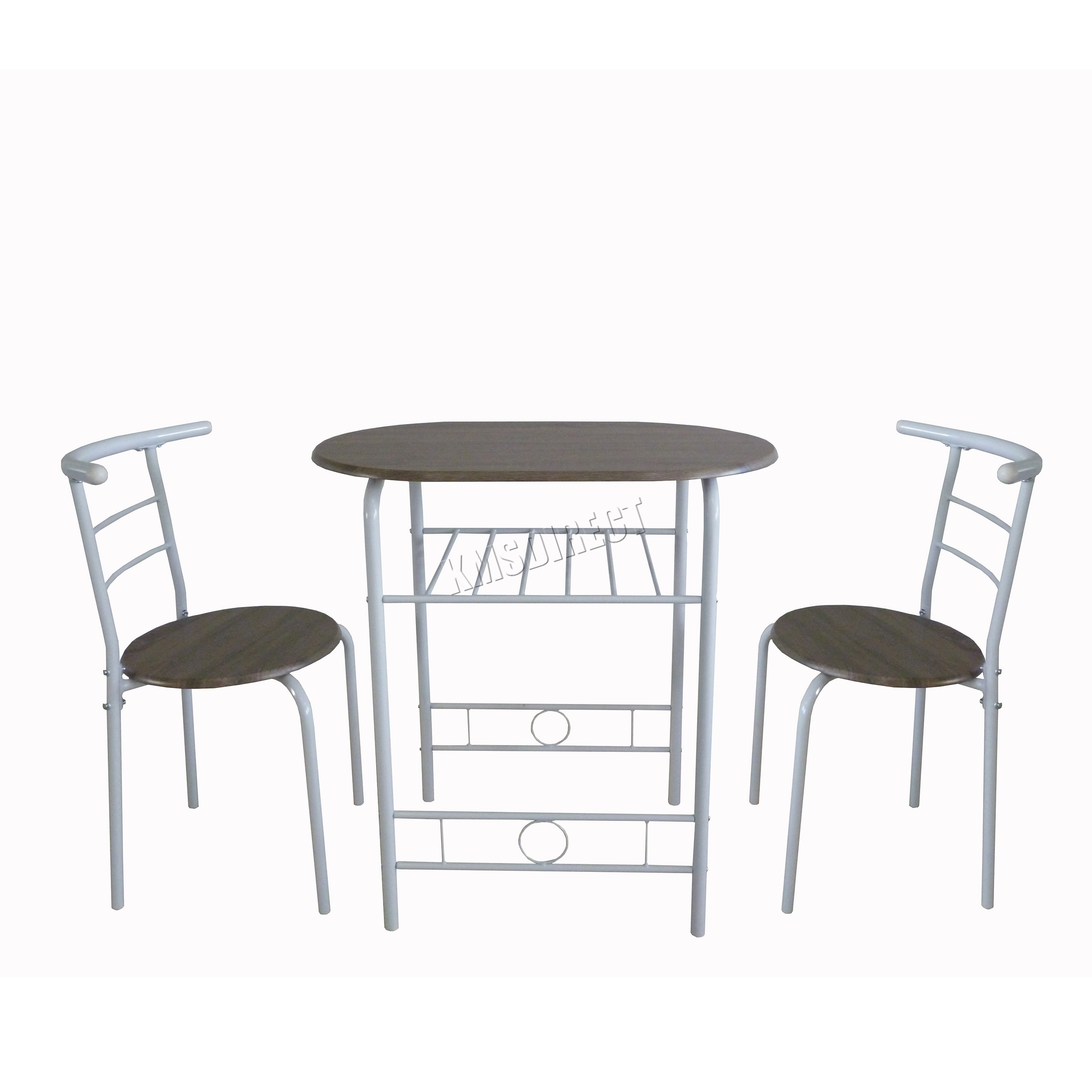 WestWood-Compact-Dining-Table-Breakfast-Bar-2-Chair-Set-Metal-MDF-Kitchen-DS06