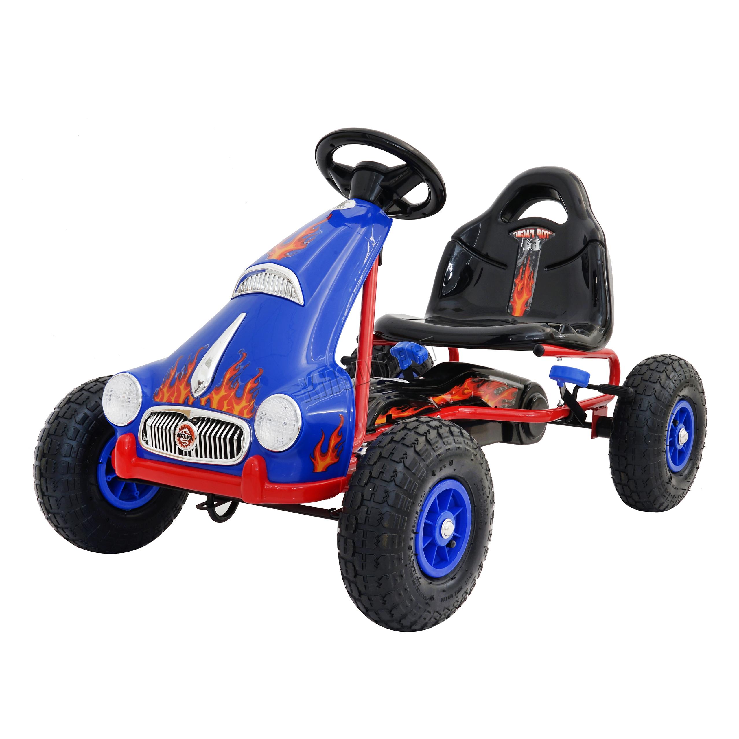 FoxHunter infantil Go Kart CORREPASILLOS COCHE GOMA PEDAL ruedas ...