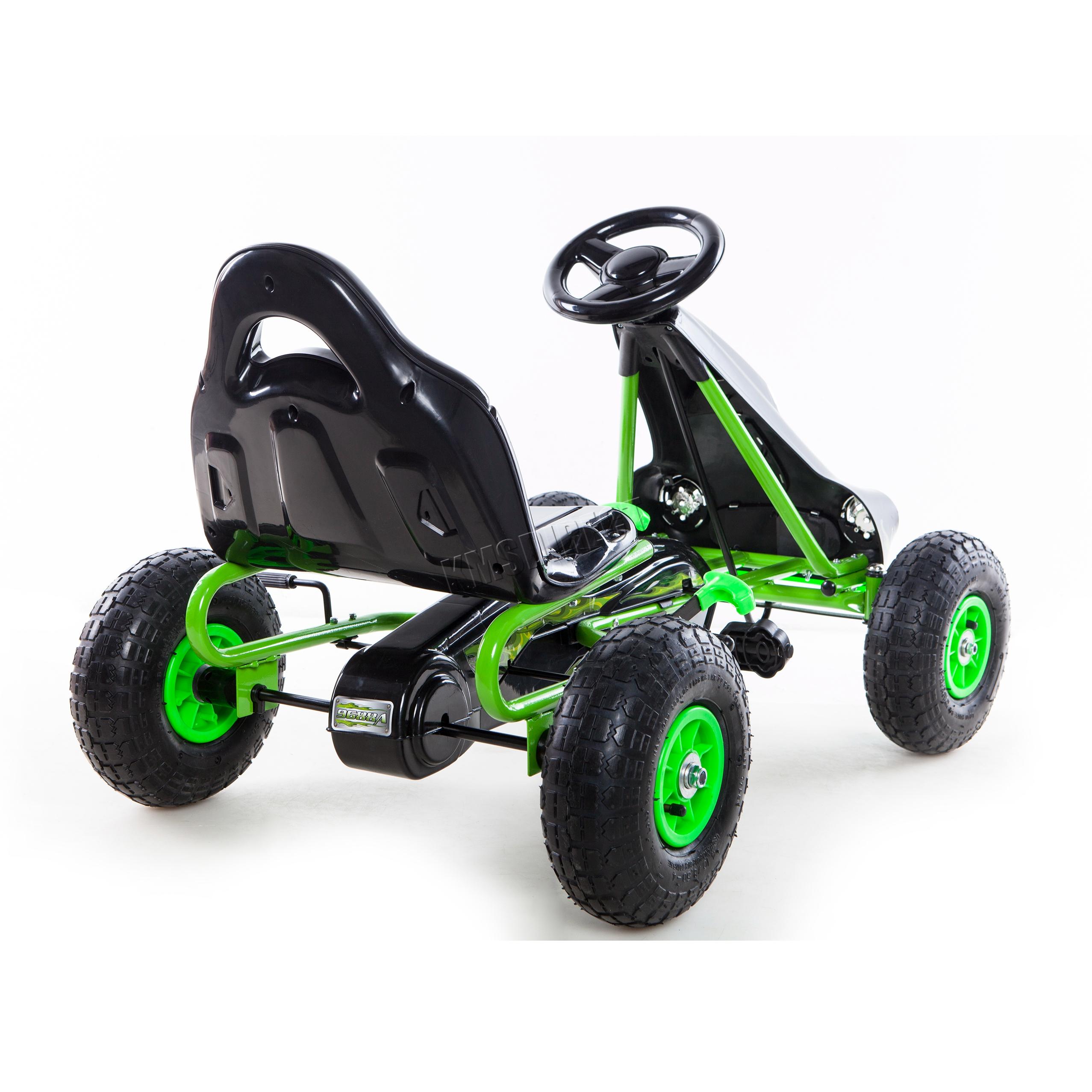 FoxHunter Kids Child Go Kart Ride On Car Pedal Rubber Wheels ...