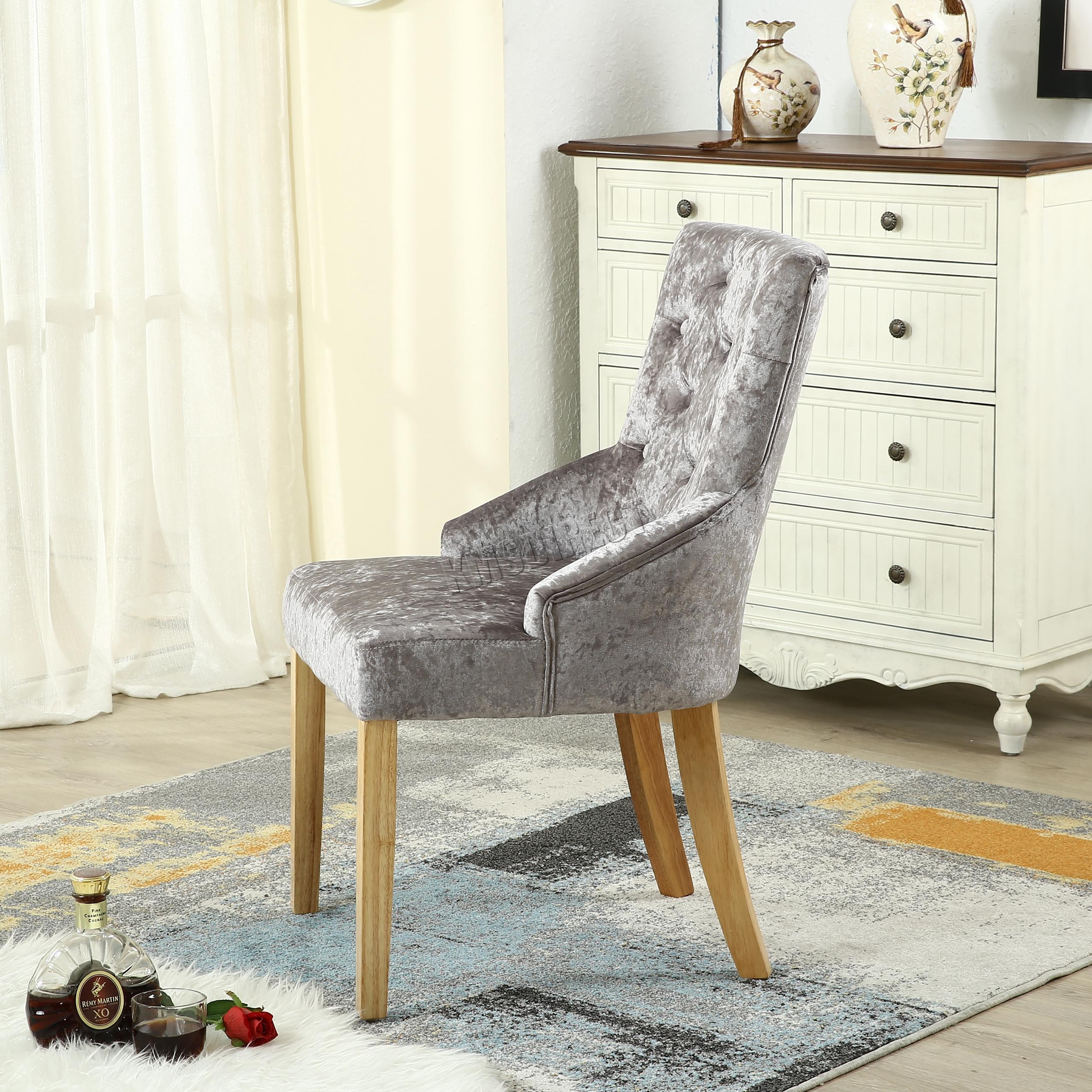 foxhunter modern zerdr cken samtstoff essstst hle schaufel kn pfe auf r ckseite ebay. Black Bedroom Furniture Sets. Home Design Ideas