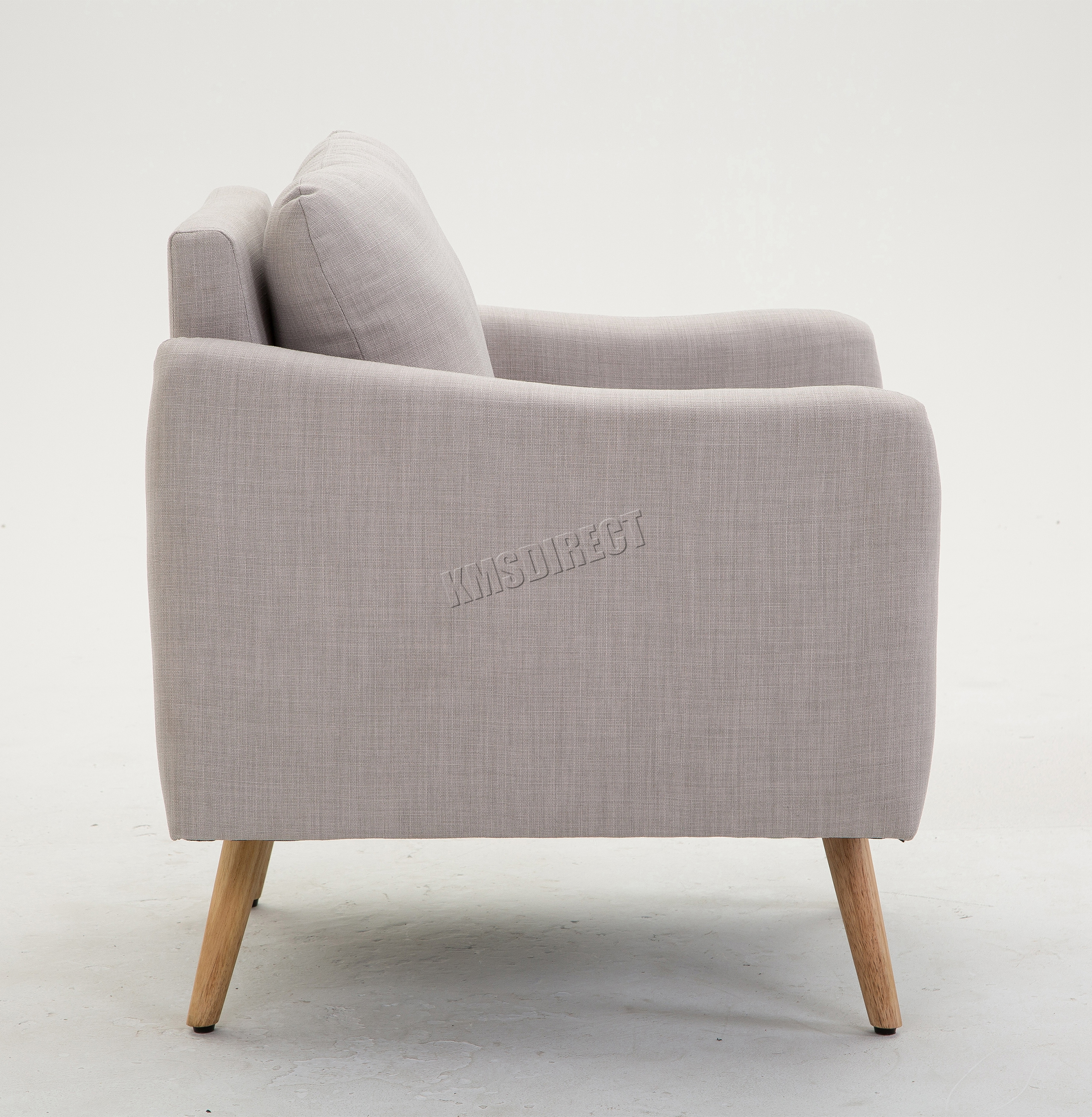 Foxhunter modern fabric armchair lounge tub chair with for Sessel gray 07