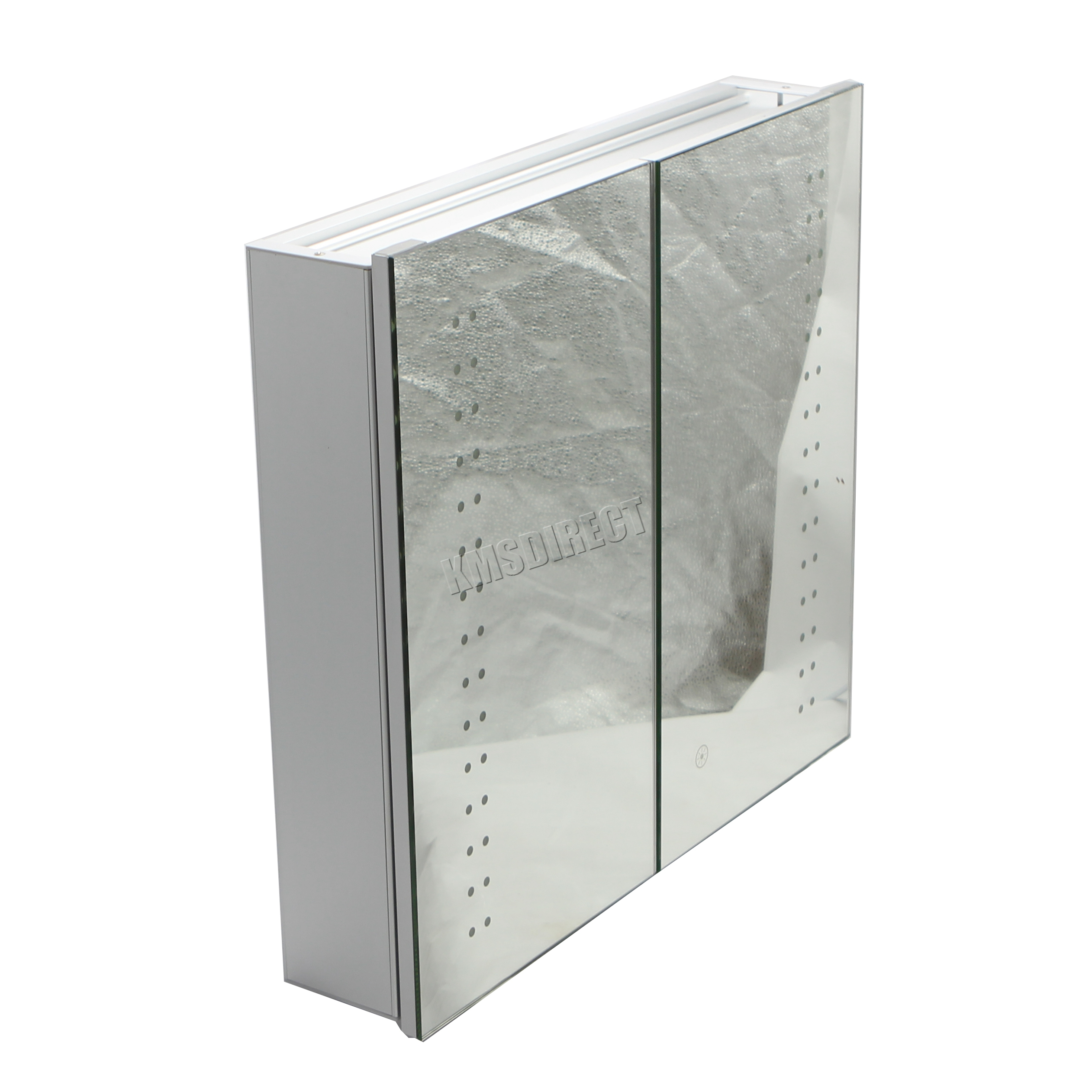 led illuminated bathroom mirror cabinet foxhunter led illuminated mirror bathroom cabinet steel 23663