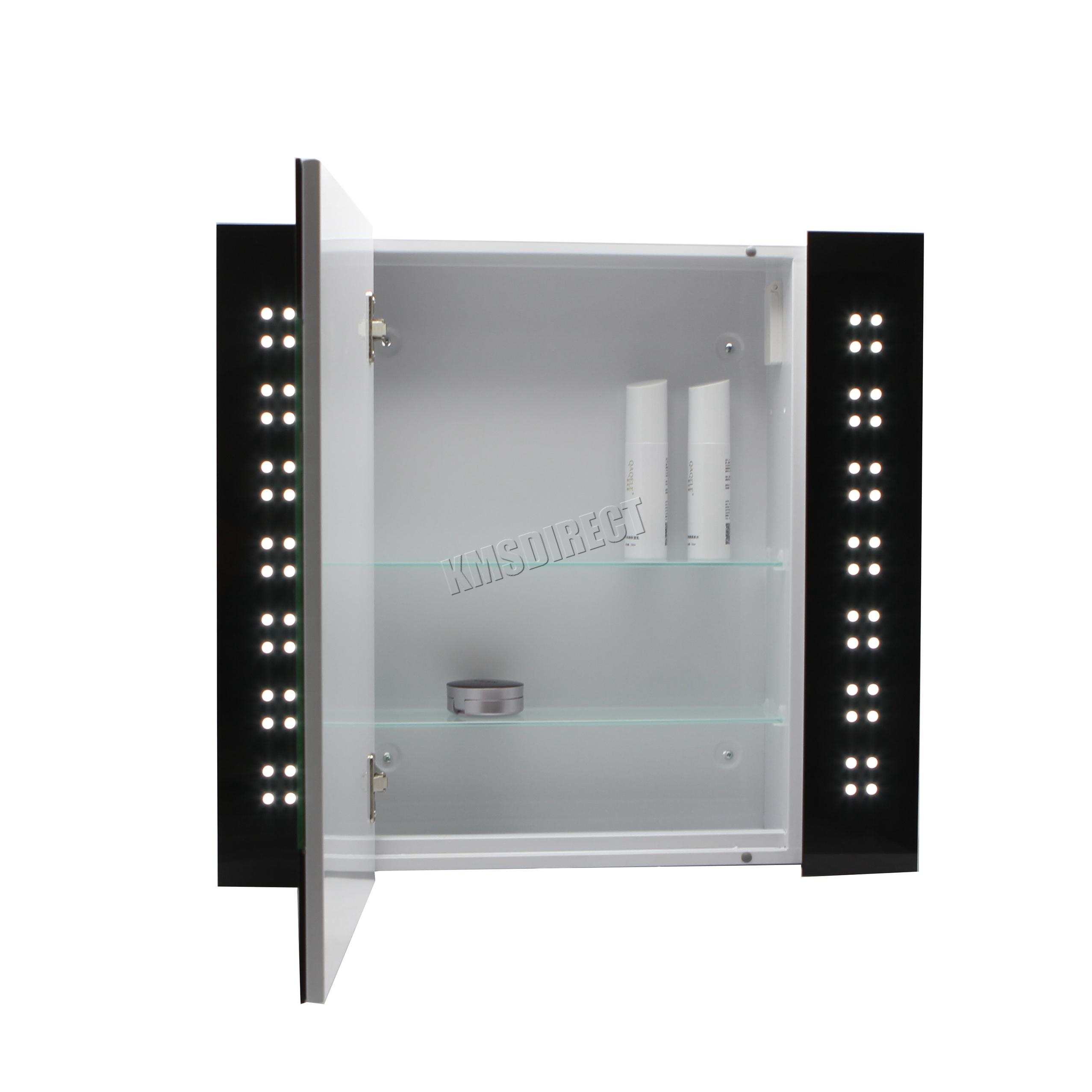 Foxhunter LED beleuchtet Spiegel Badezimmer Schrank Stahl Schrank Sensor  eBay