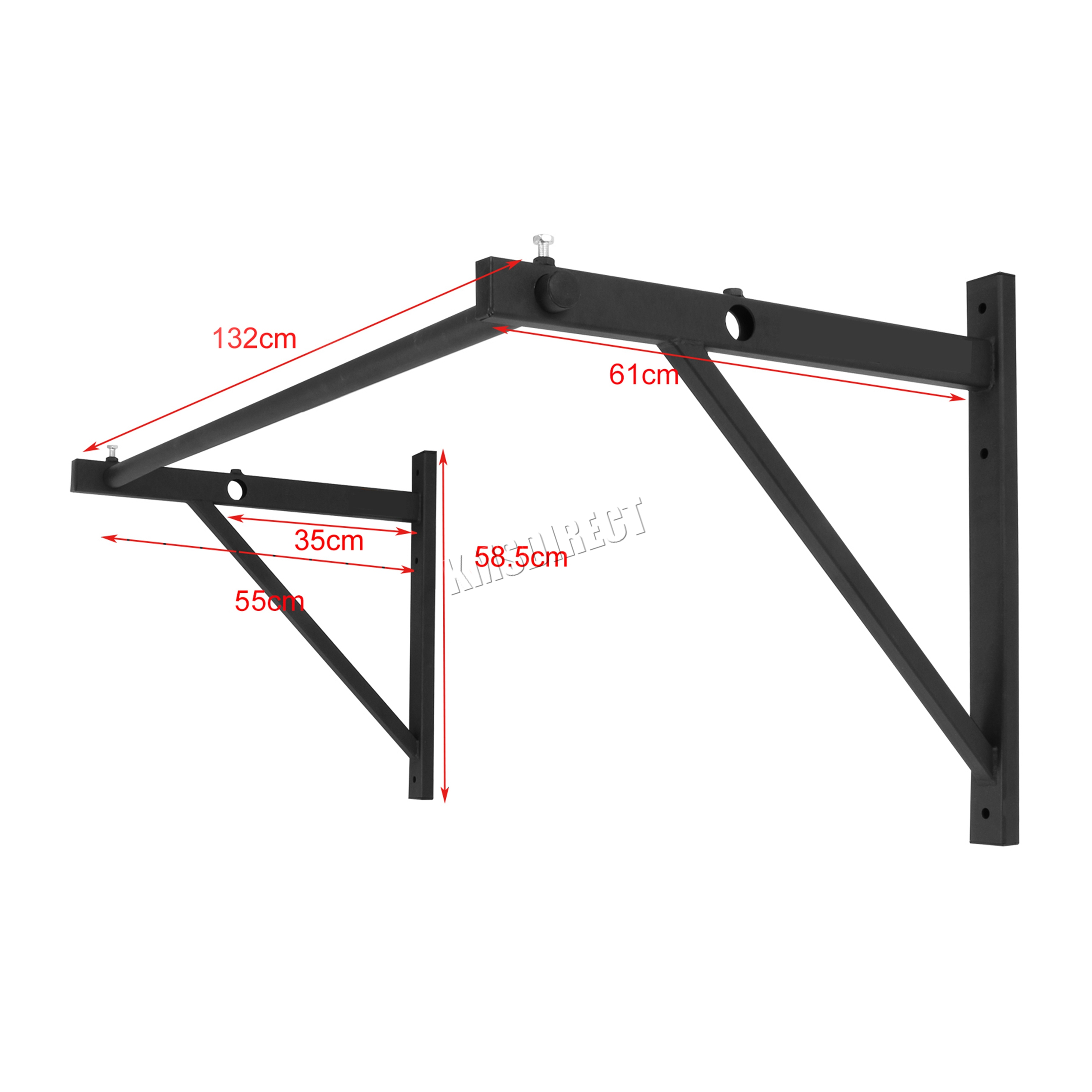 frame bar bodyweight up door beam training cubeamkbotbund mounting chin cross strength pull bottom systems kit