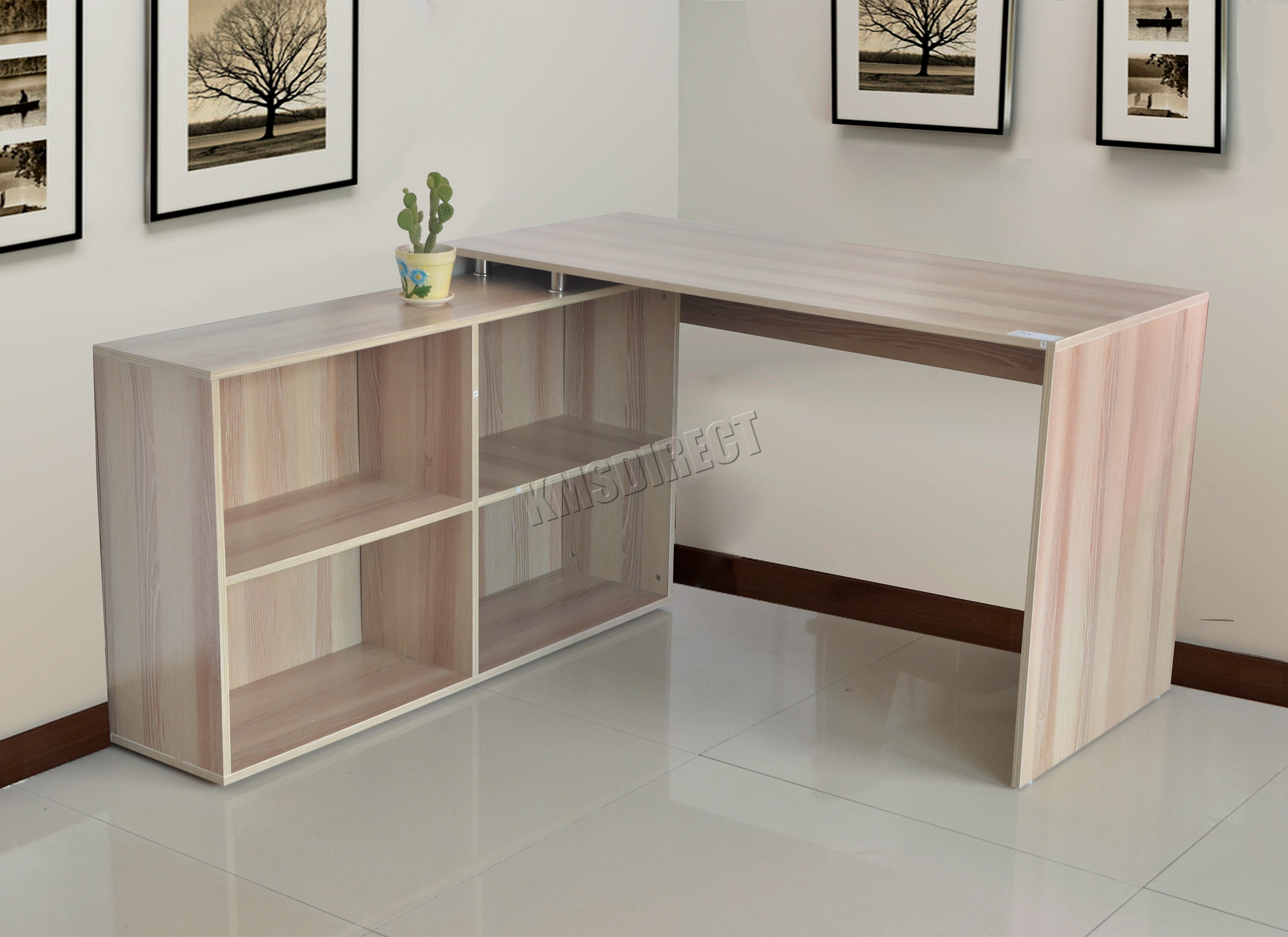 Westwood l shaped corner computer desk pc table home work office