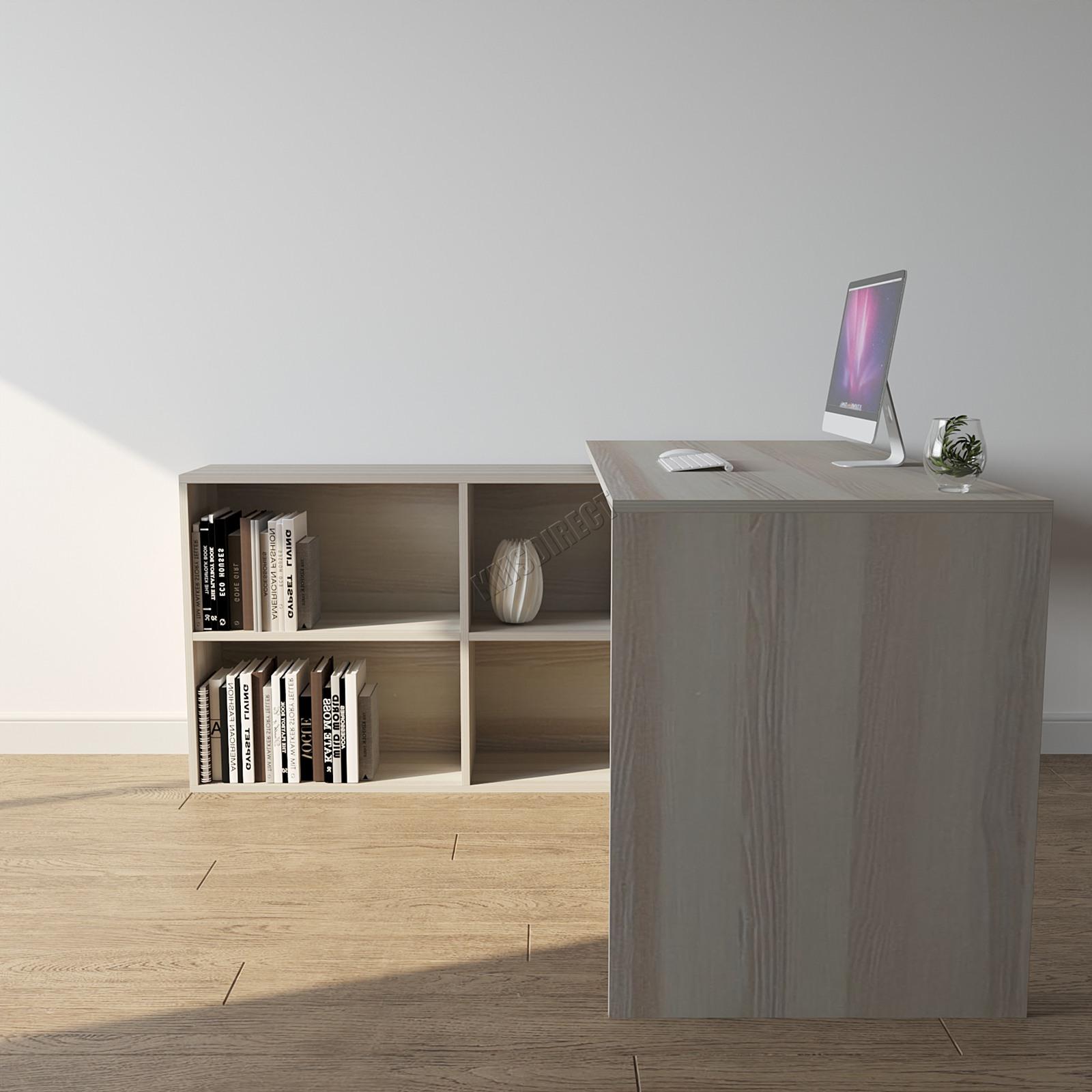 Foxhunter L Shaped Corner Computer Desk Pc Table Home Work