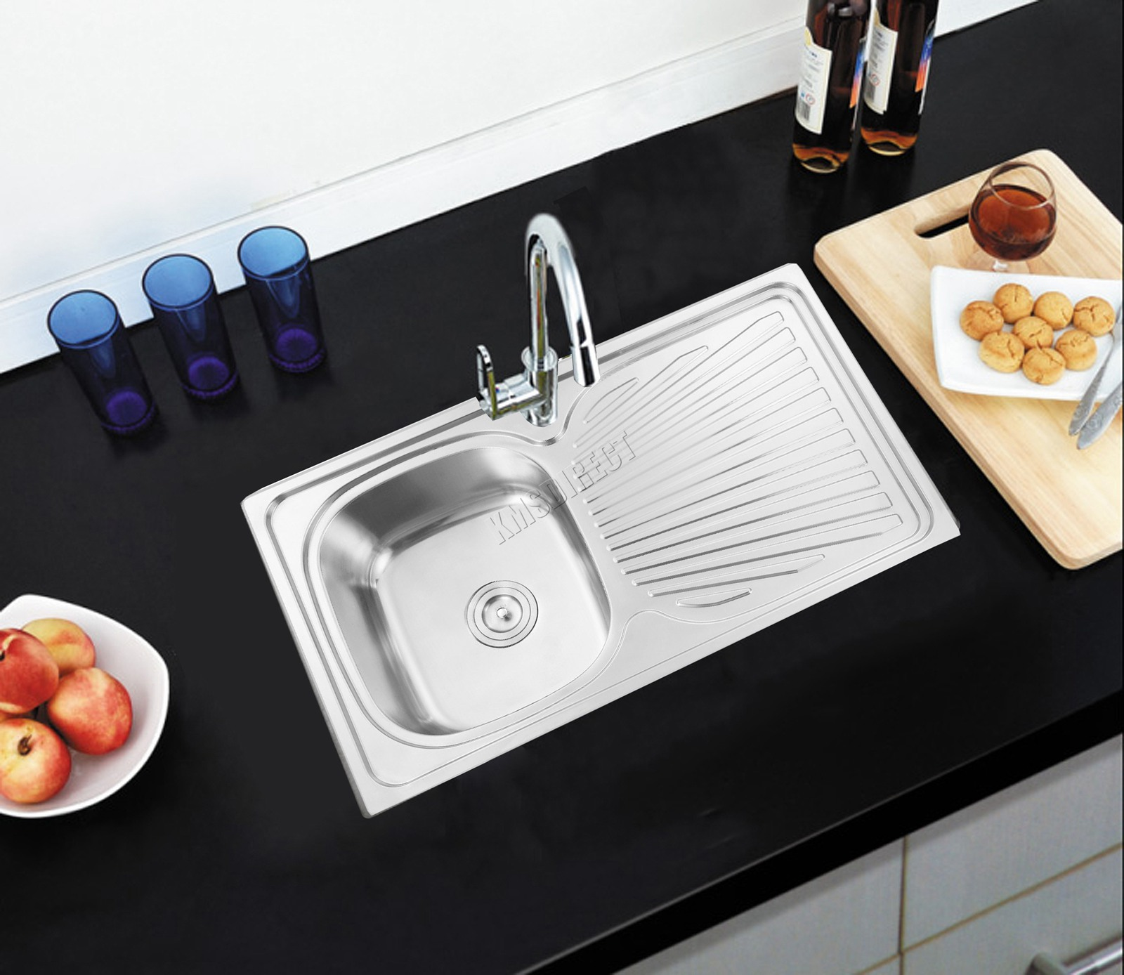 big kitchen sink foxhunter 1 0 1 5 bowl stainless steel kitchen sink 1653