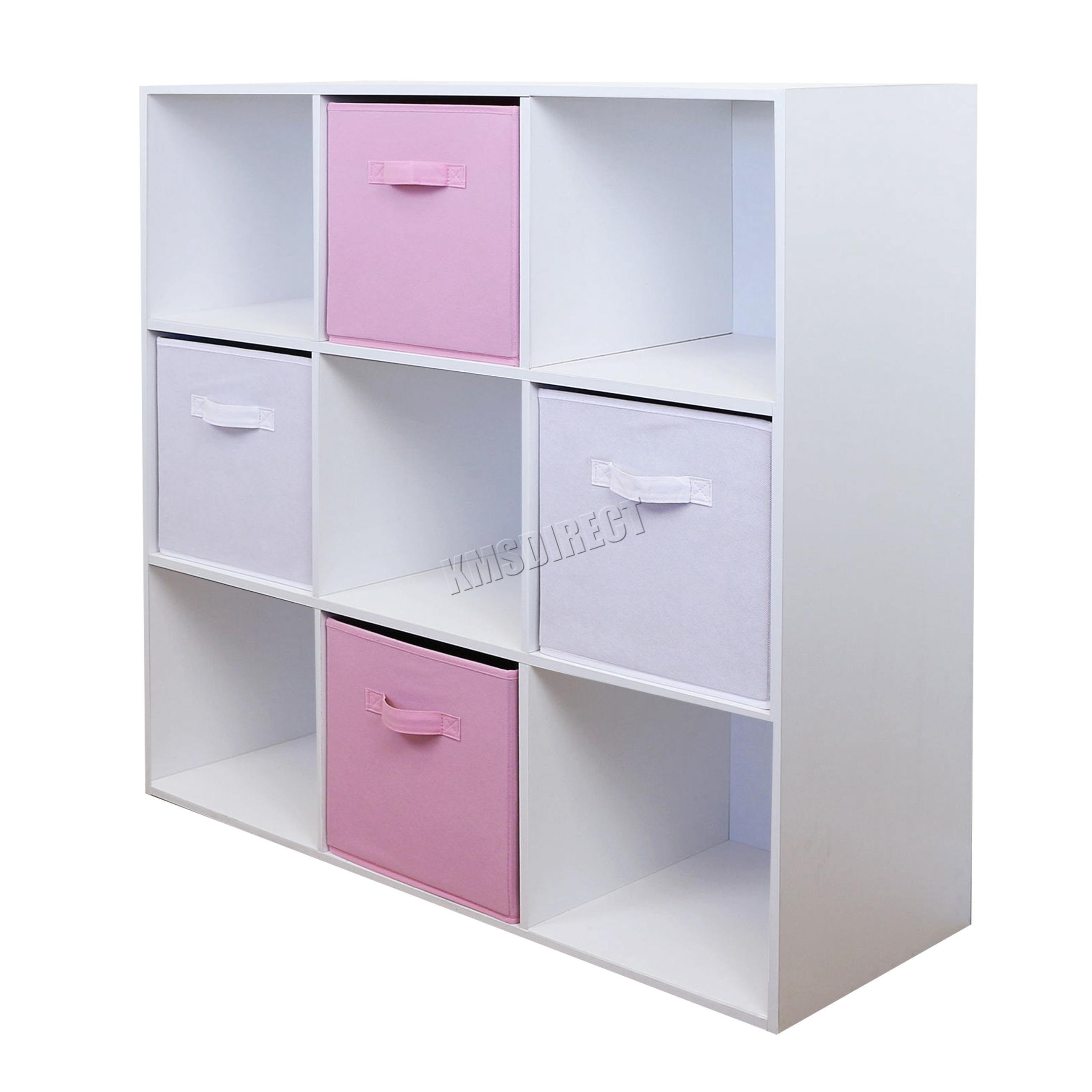 Childrens Kids 3 Tier Toy Bedroom Storage Shelf Unit 8: FoxHunter Toy Storage Boxes