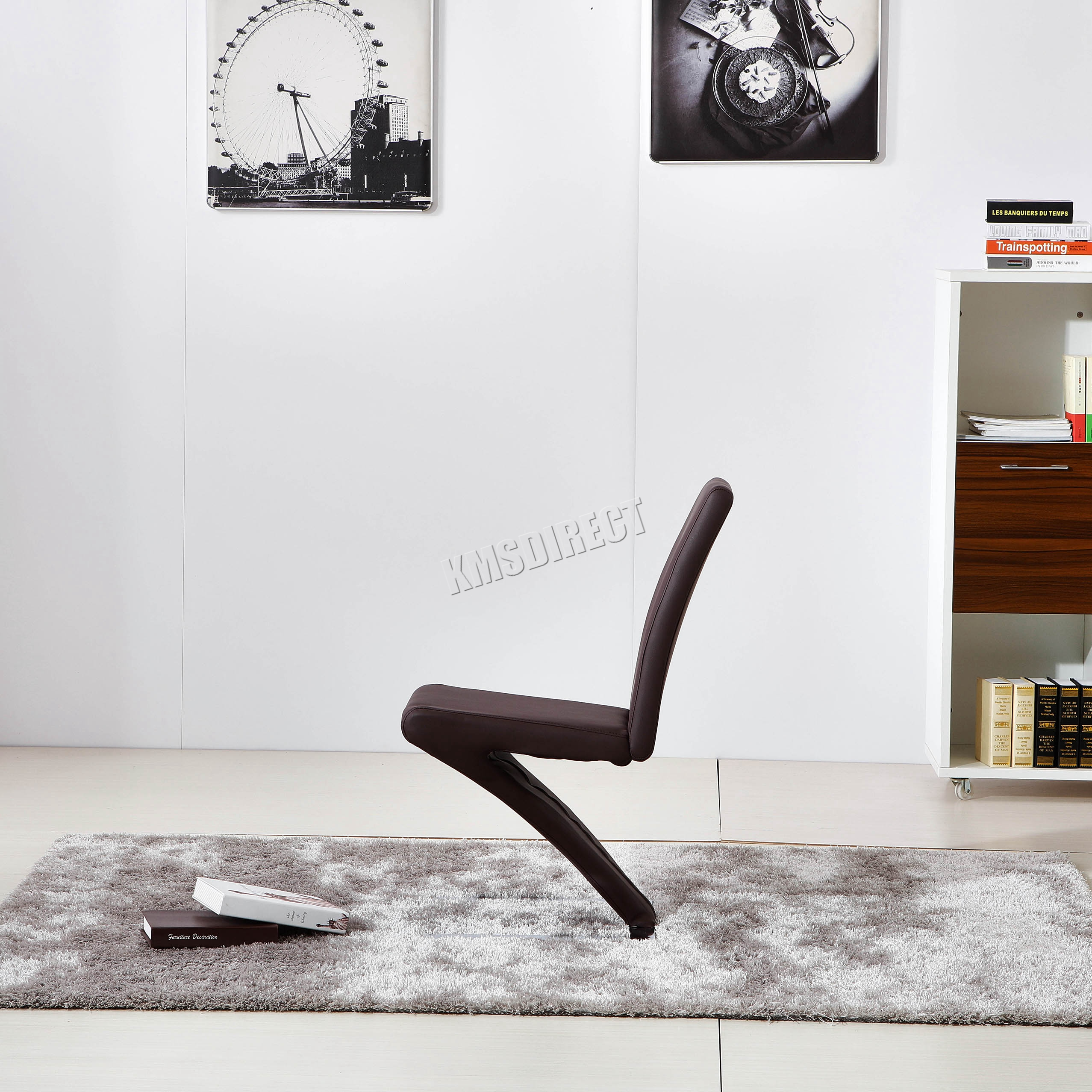 kosmetik besch digt 2 4 stk z form esszimmer sessel stuhl b ro pu kunstleder ebay. Black Bedroom Furniture Sets. Home Design Ideas