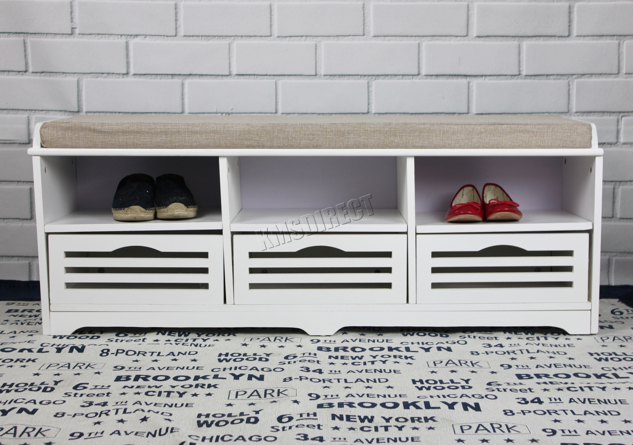 Image Is Loading SPARE REPAIR FoxHunter Shoe Storage Bench Drawers Cabinet