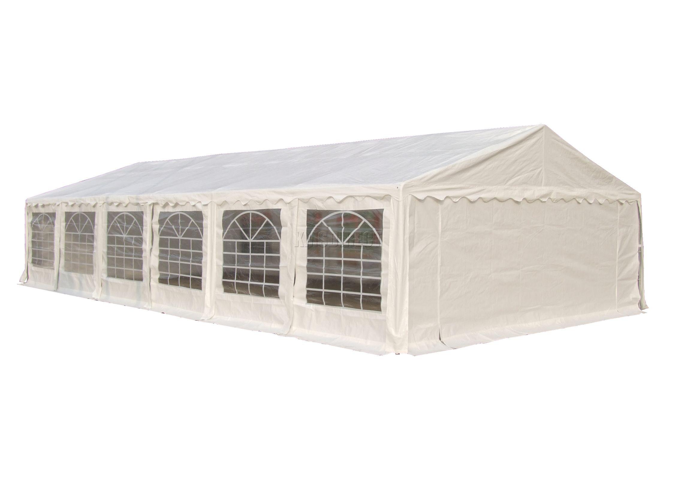 Sentinel FoxHunter Outdoor 6m X 12m Heavy Duty Wedding Party Tent Marquee Gazebo White