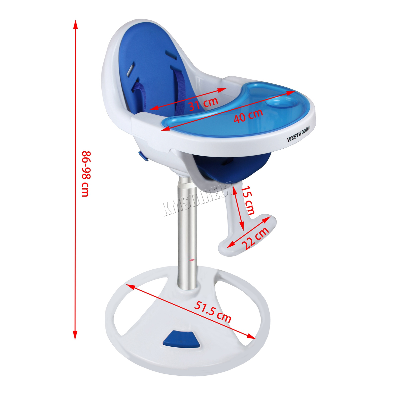 WestWood-360-Swivel-Baby-Highchair-Infant-feeding-Seat-Table-High-Chair-BHC03 thumbnail 20