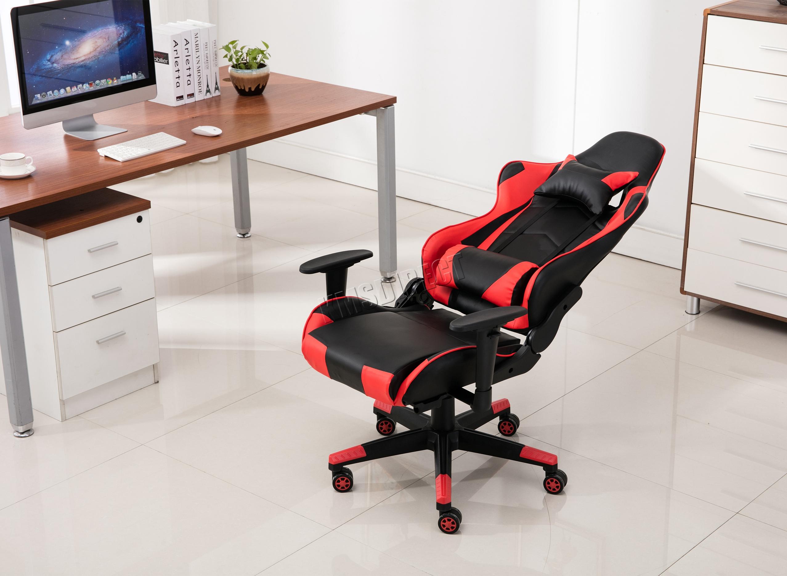 Westwood chaise de bureau ordinateur fauteuil inclinable faux cuir
