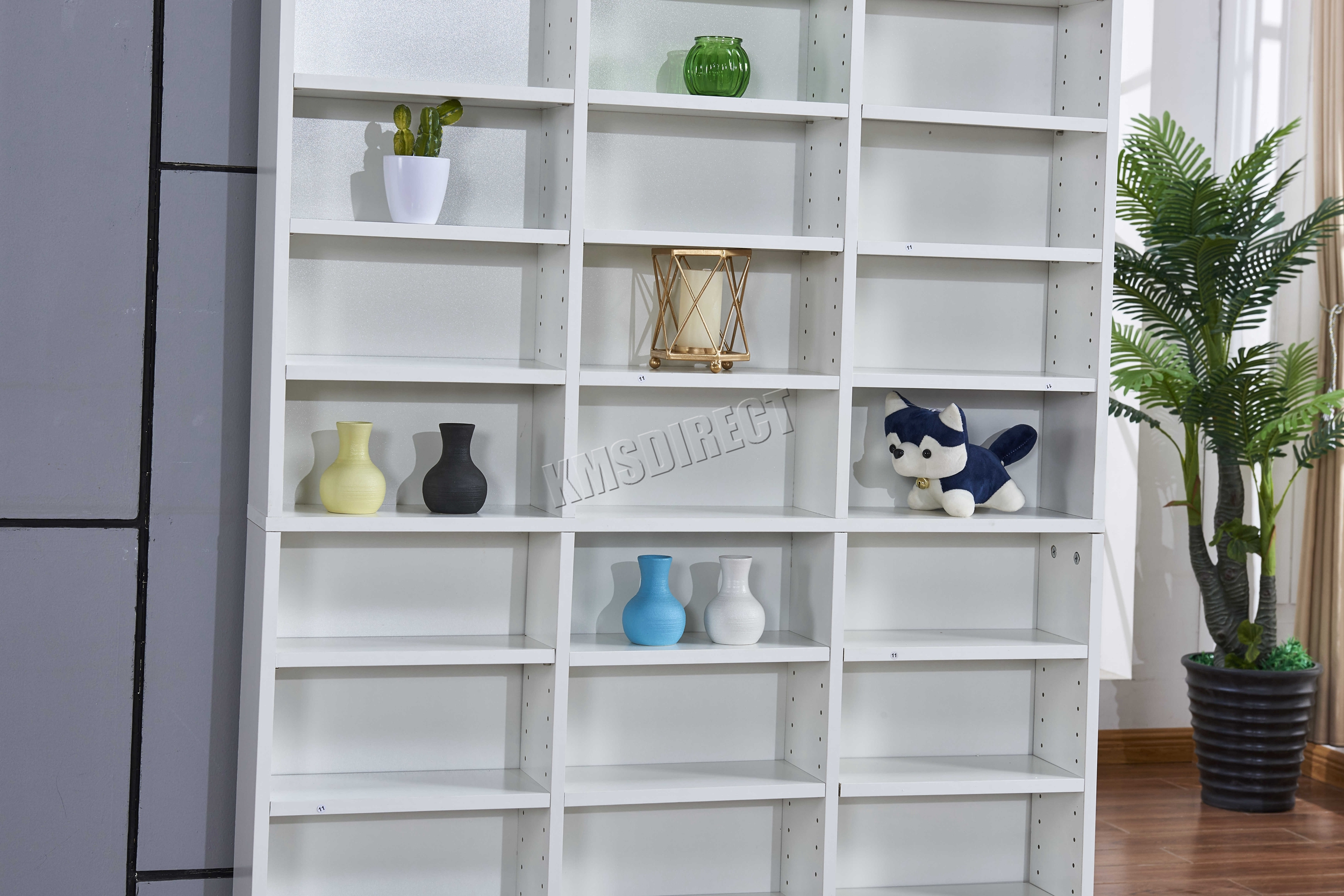 storage hallo bookcase tall bookcases cd freedom products zwetschge tower shelf dvd homestore