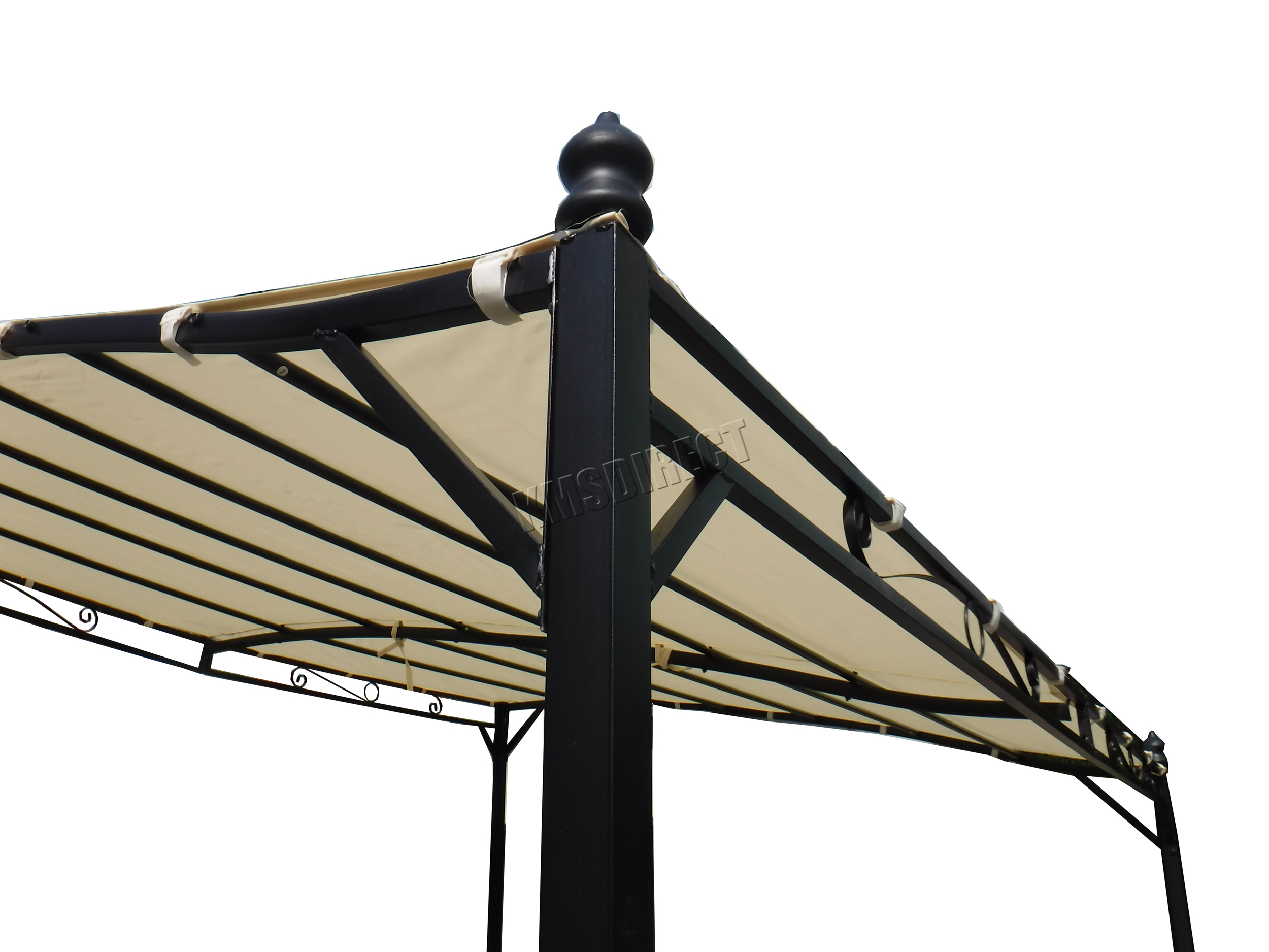 WestWood Metal Wall Gazebo Awning Garden Marquee Canopy ...
